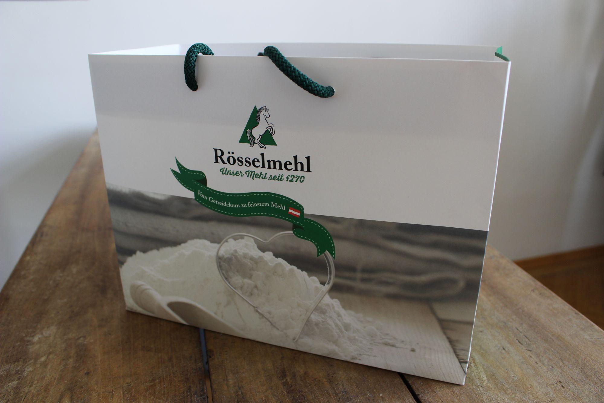 Entwurf von Papiertaschen für Rösselmehl