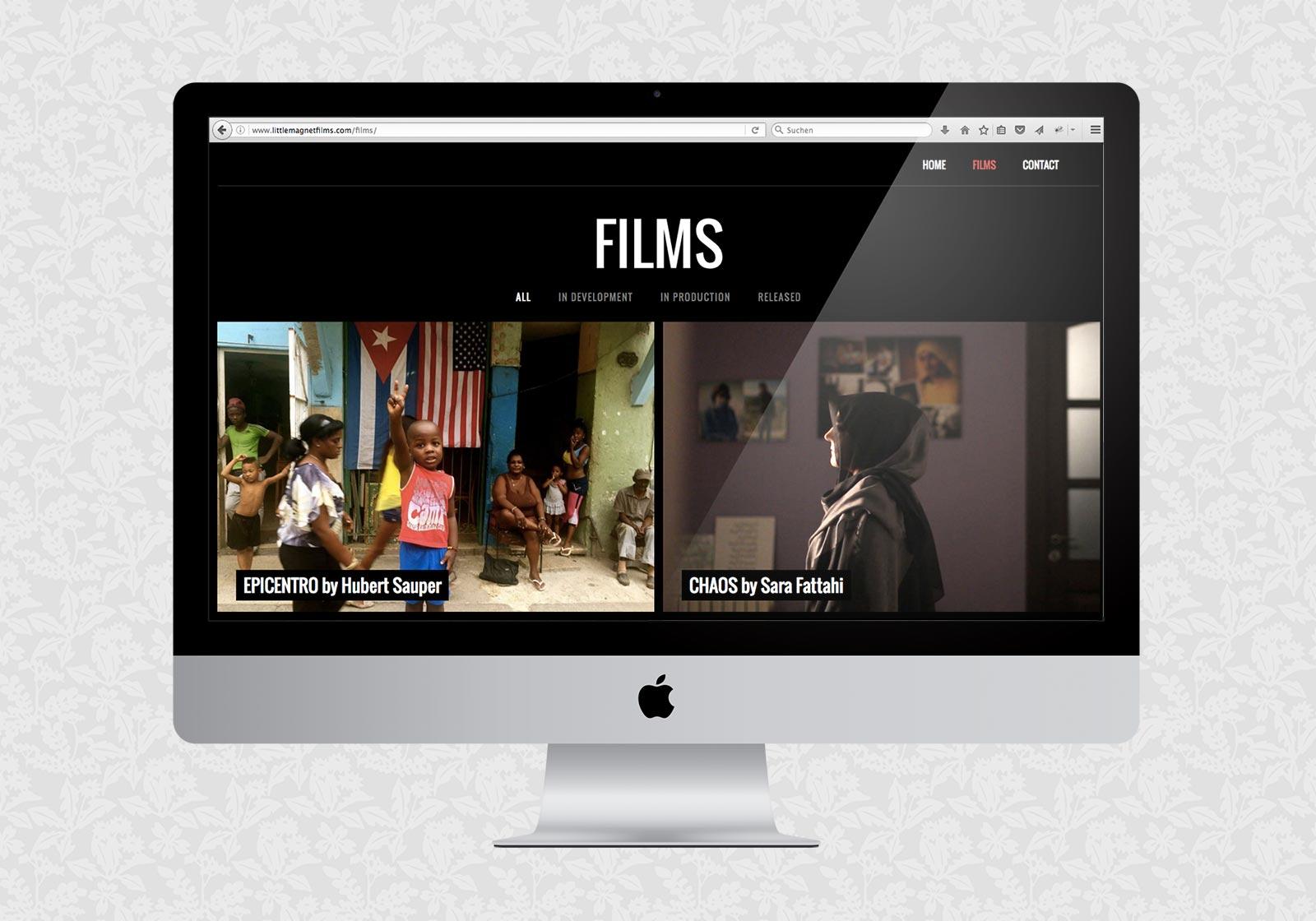Website für Little Magnet Films
