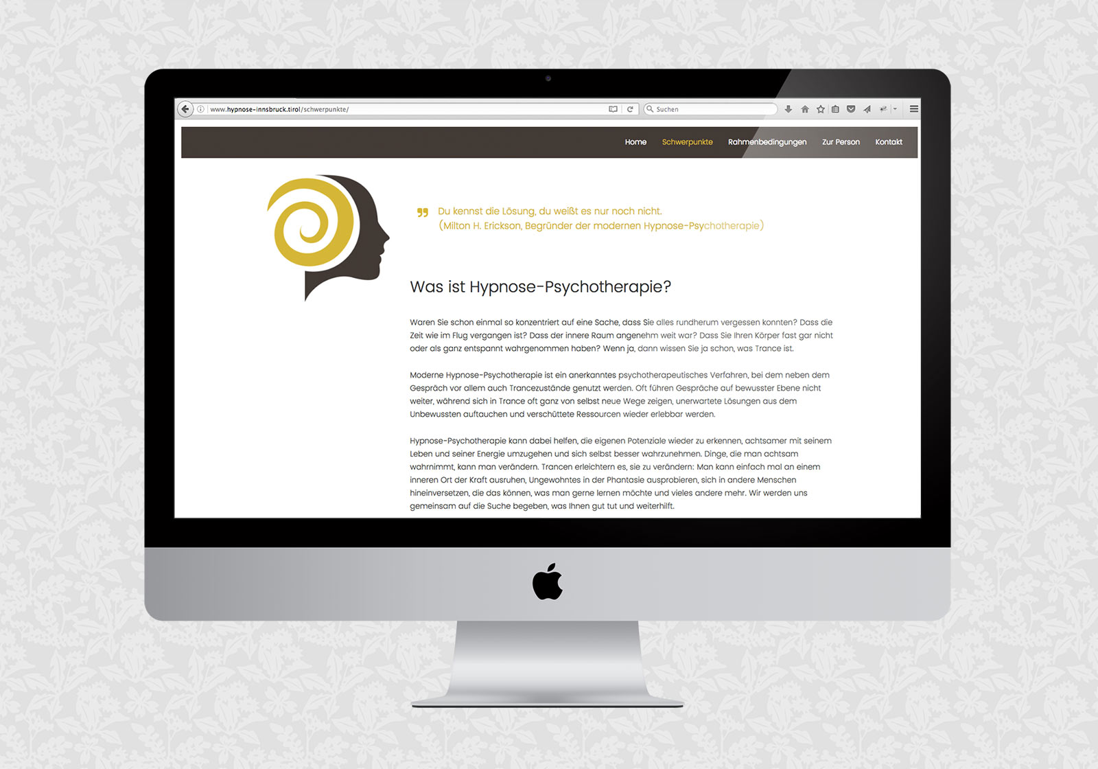 Website für Ruth Paul / Hypnose-Psychotherapie