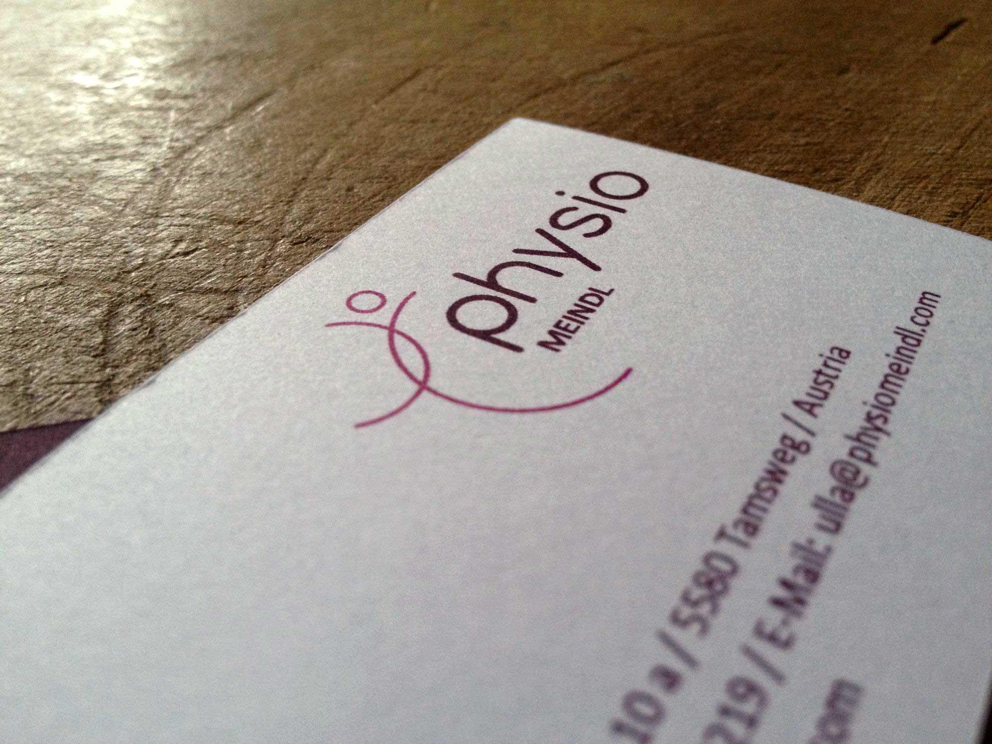 Logo und Visitenkarten für Physio Meindl