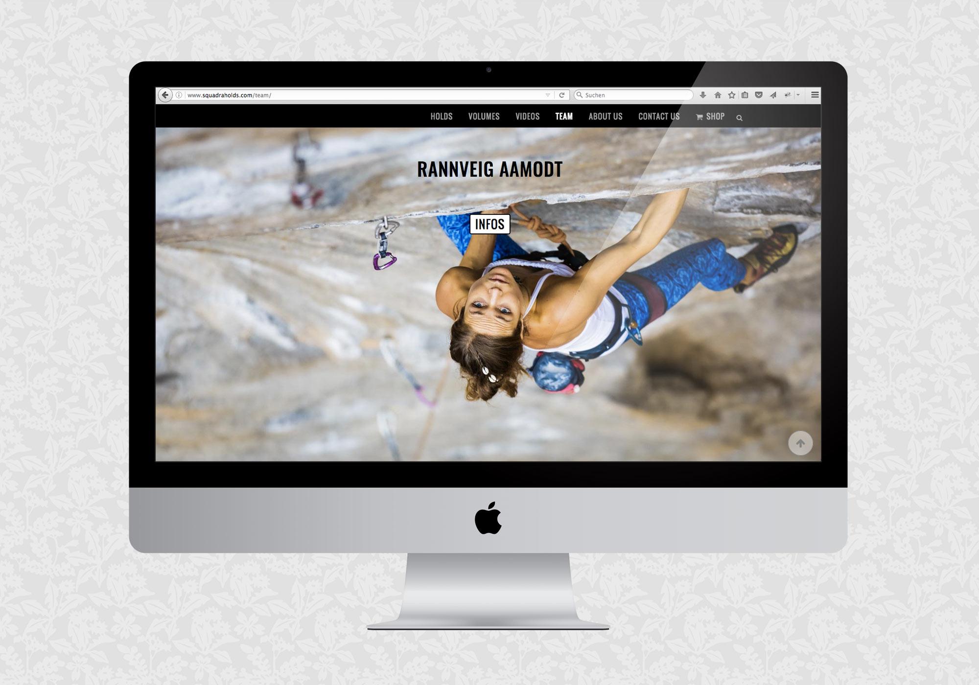 Website für Squadra Climbing