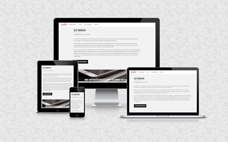 Website für POFW Rechtsanwälte