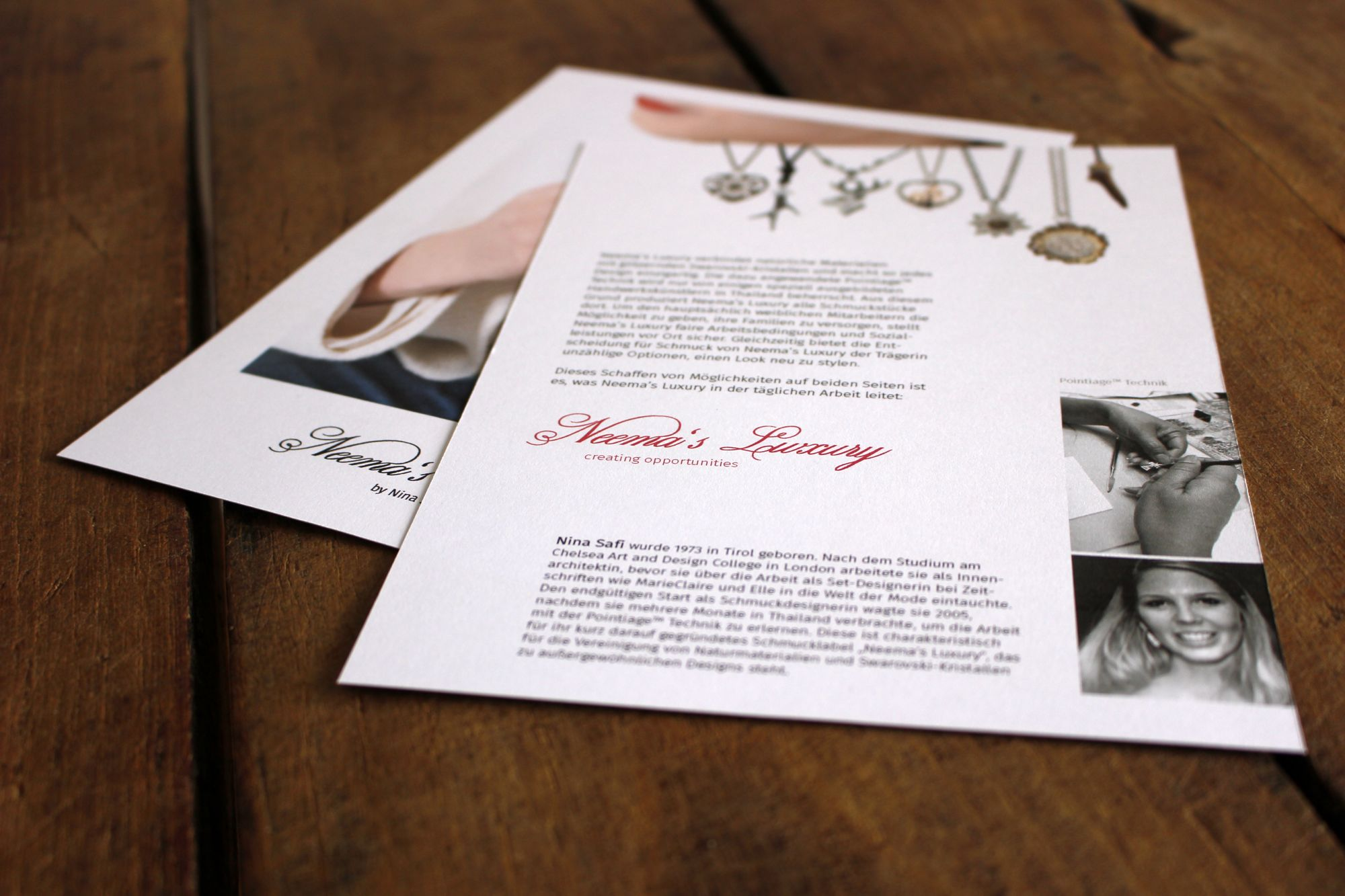 Corporate Design für Neema's Luxury