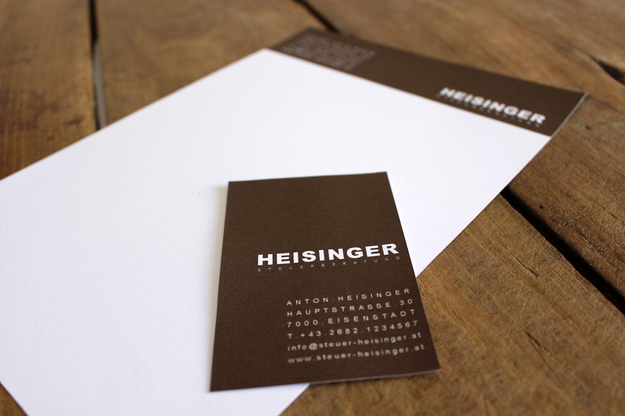 Corporate Design für Heisinger Steuerberatung