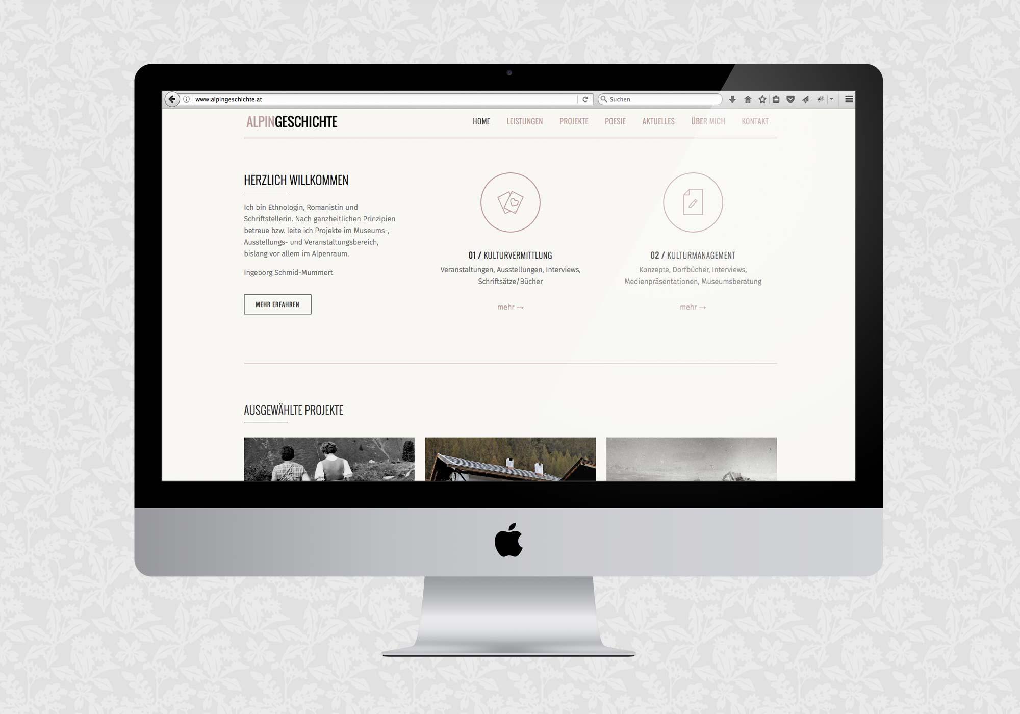 Website für Alpingeschichte