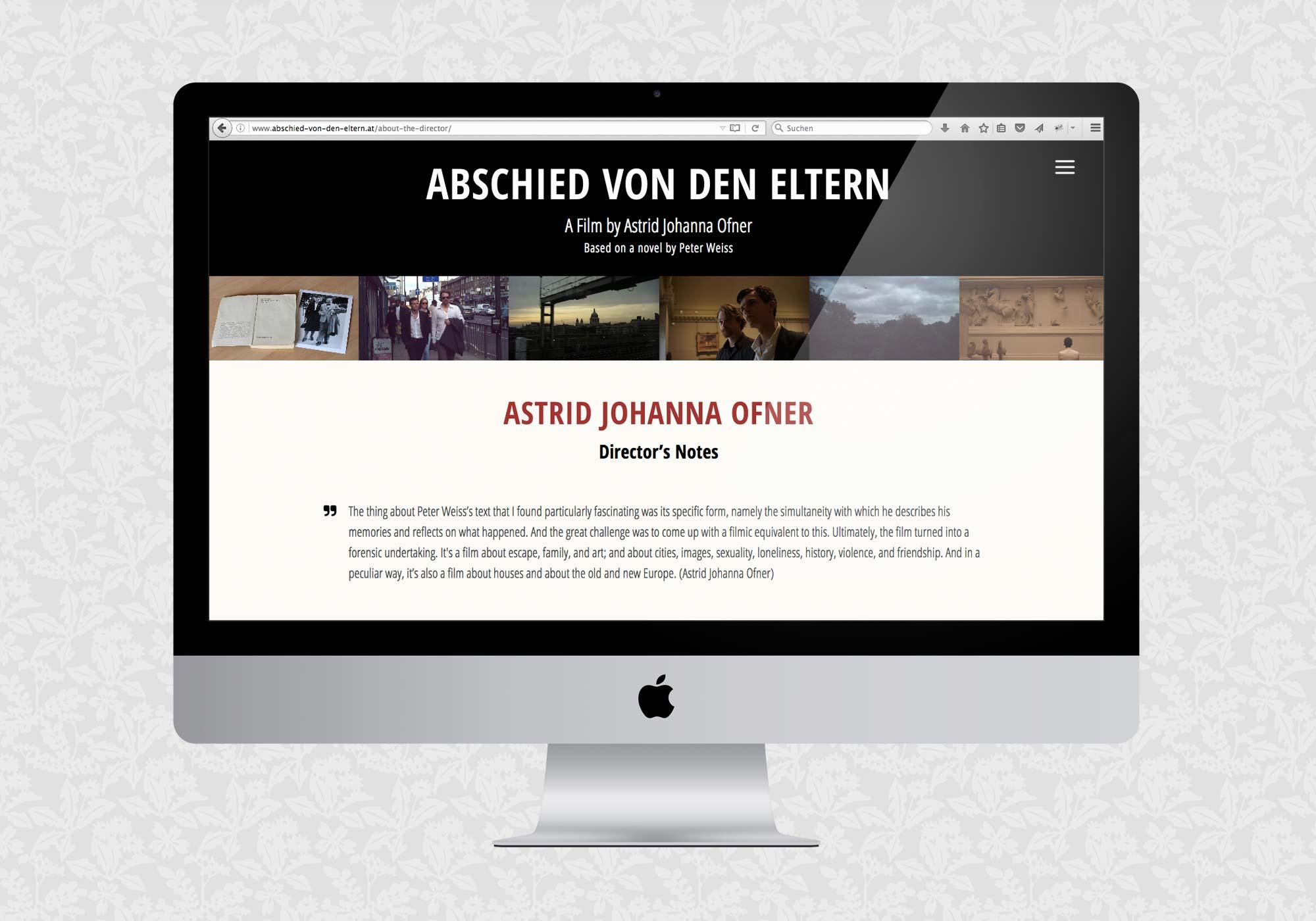 Filmwebsite Abschied von den Eltern