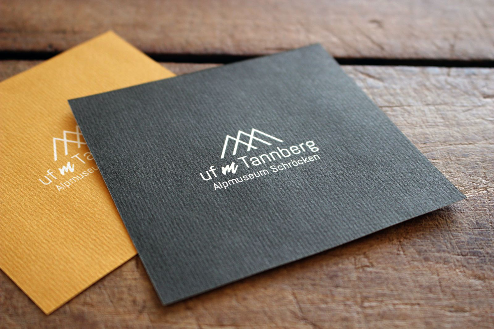 Logo und Flyer für das Alpmuseum Schröcken
