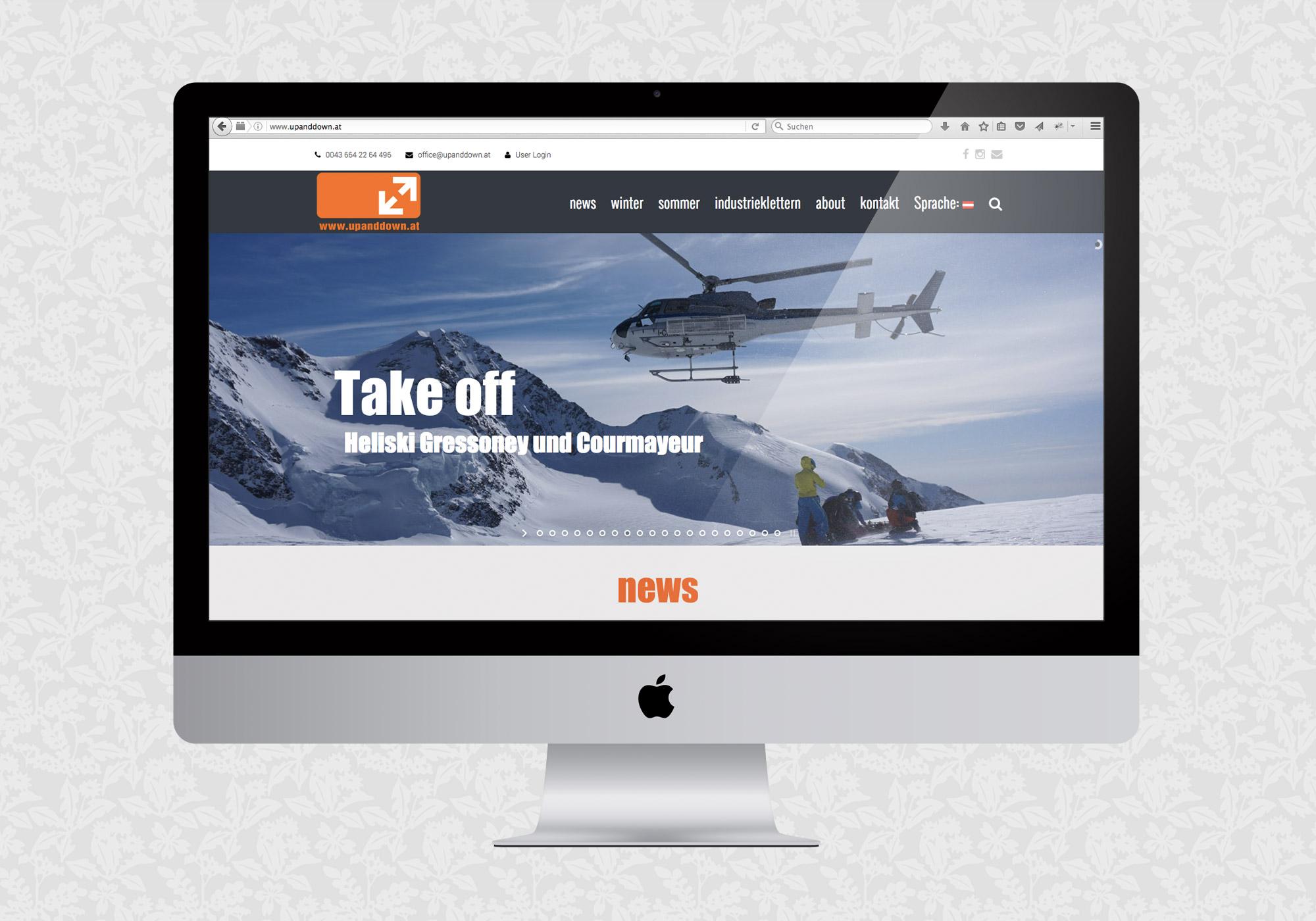 Redesign der Website für upanddown