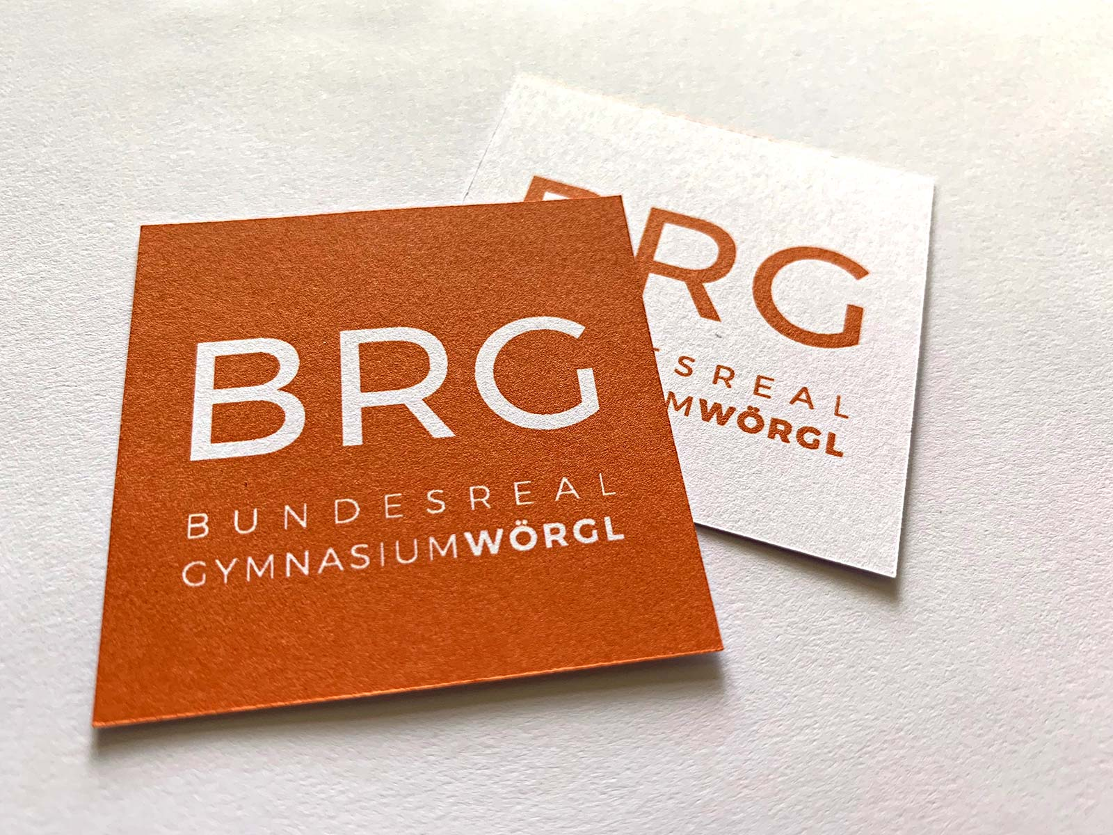 Logo und Schriftenkonzept für das BRG Wörgl | © fein fein