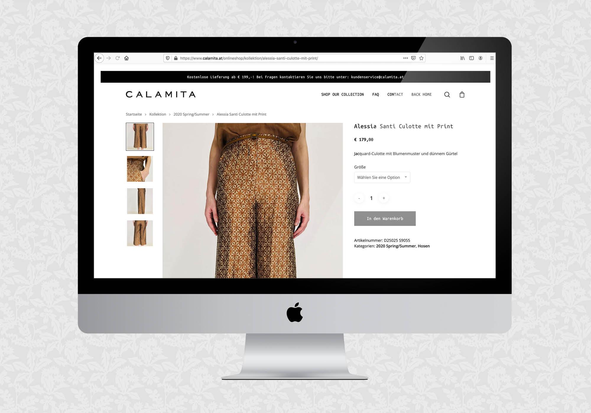 Webshop für Calamita | © fein fein