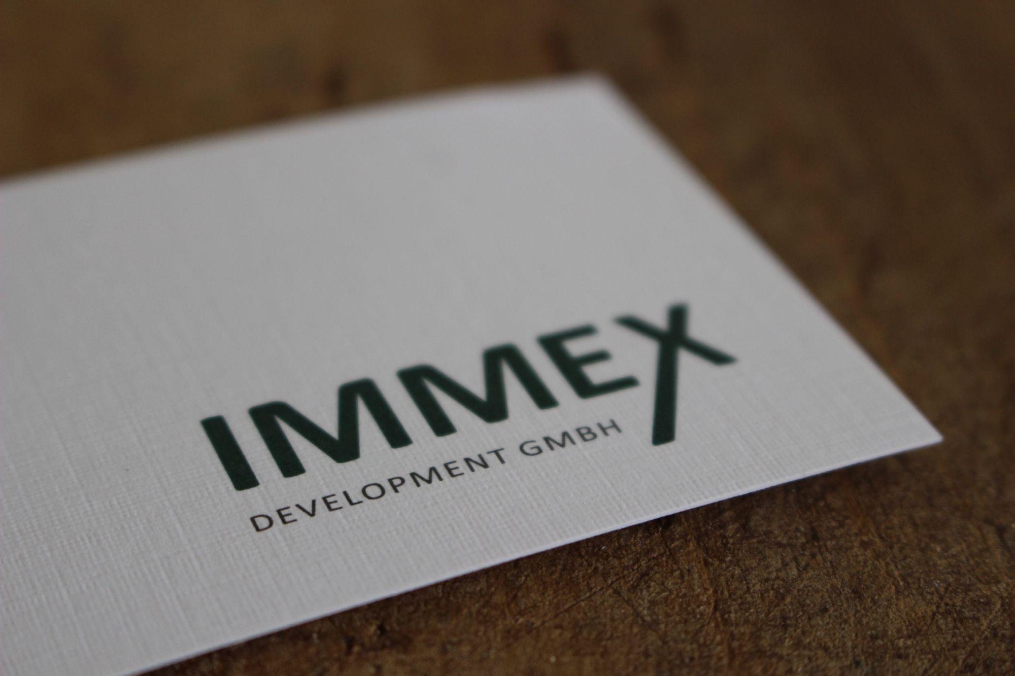 Visitenkarten für Immex Development GmbH