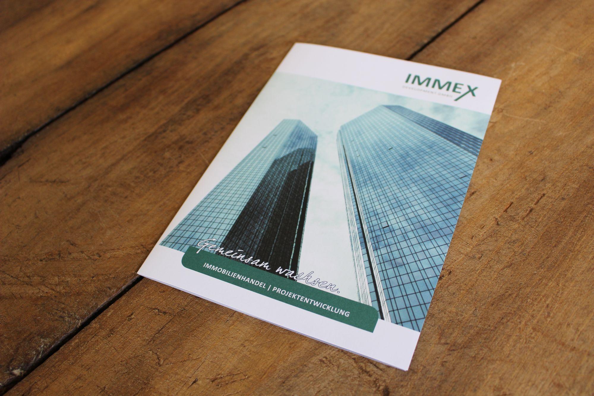Folder für Immex Development GmbH