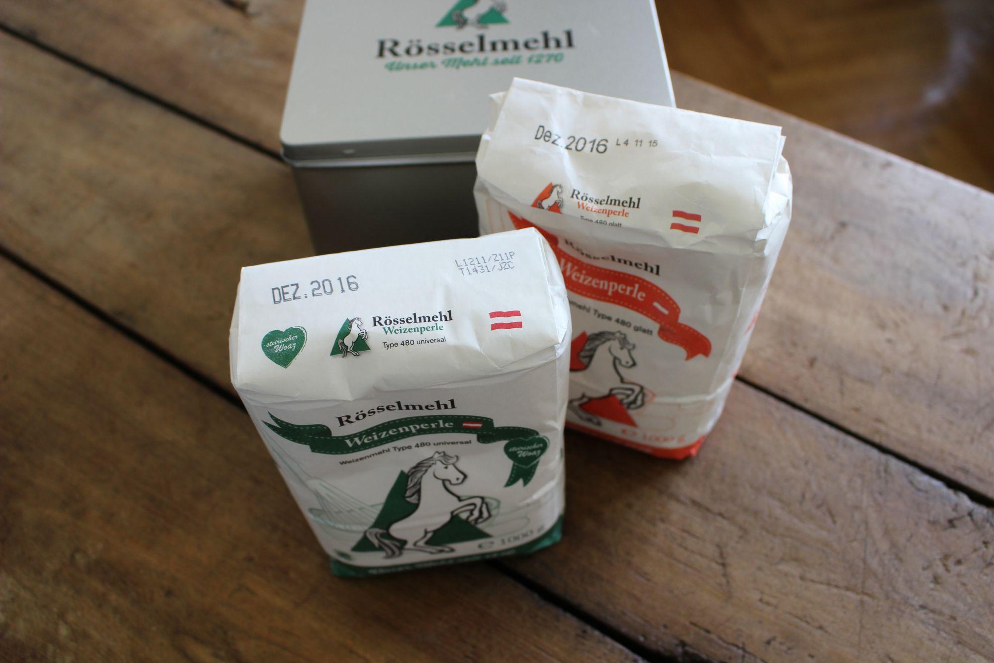 Verpackungslayout für Rösselmehl
