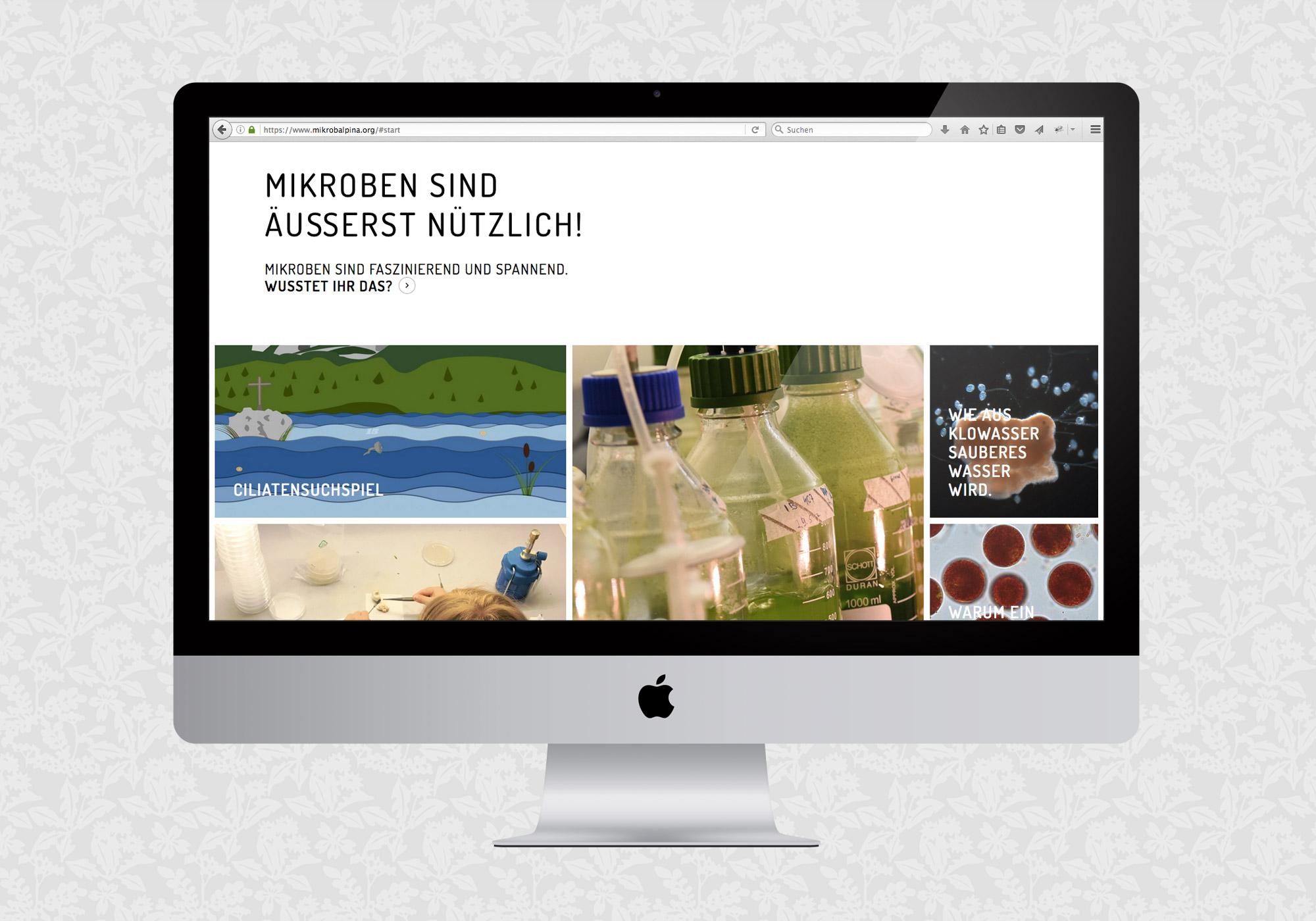 Website für MikrobAlpina   © fein fein