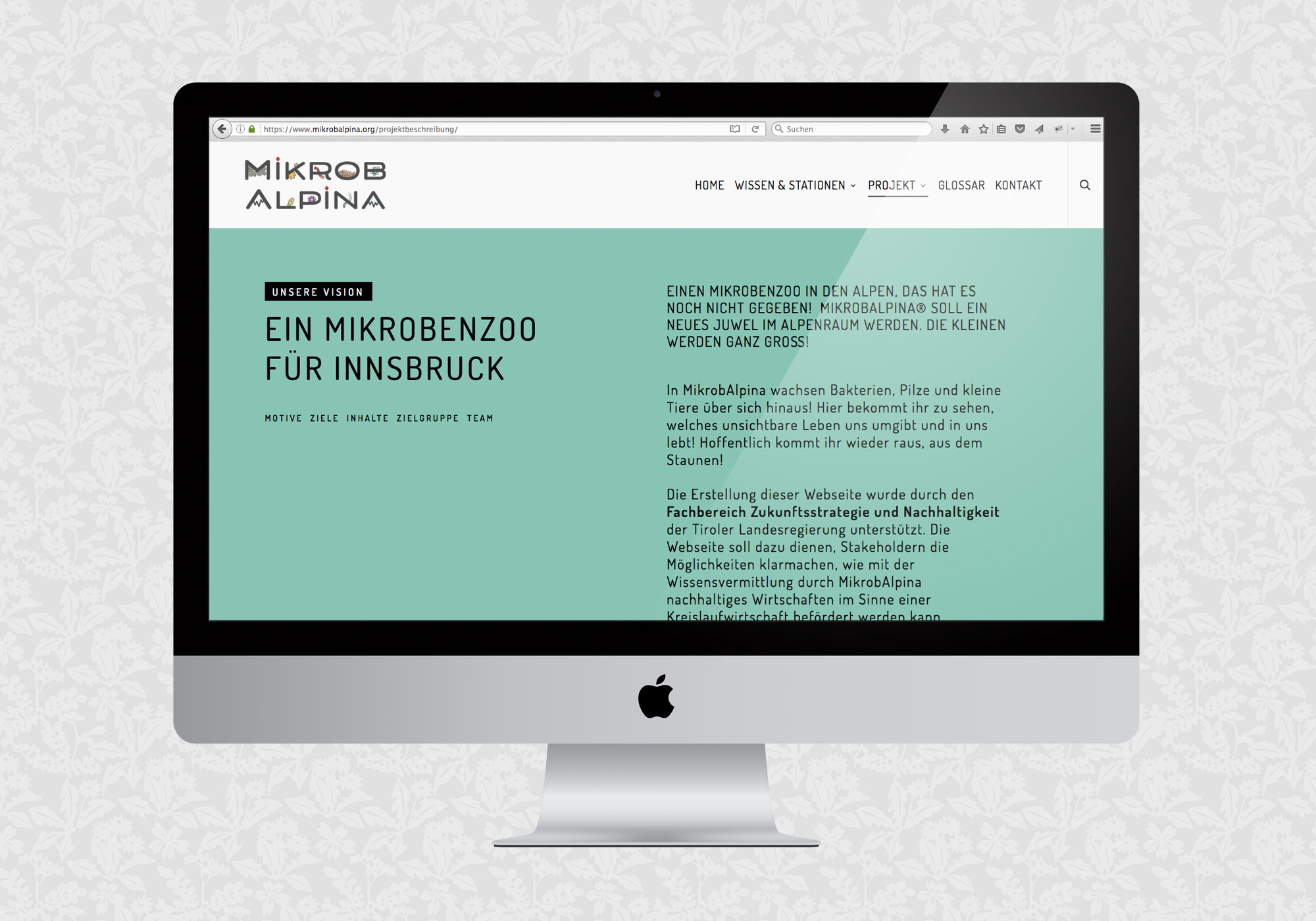 Website für MikrobAlpina | © fein fein