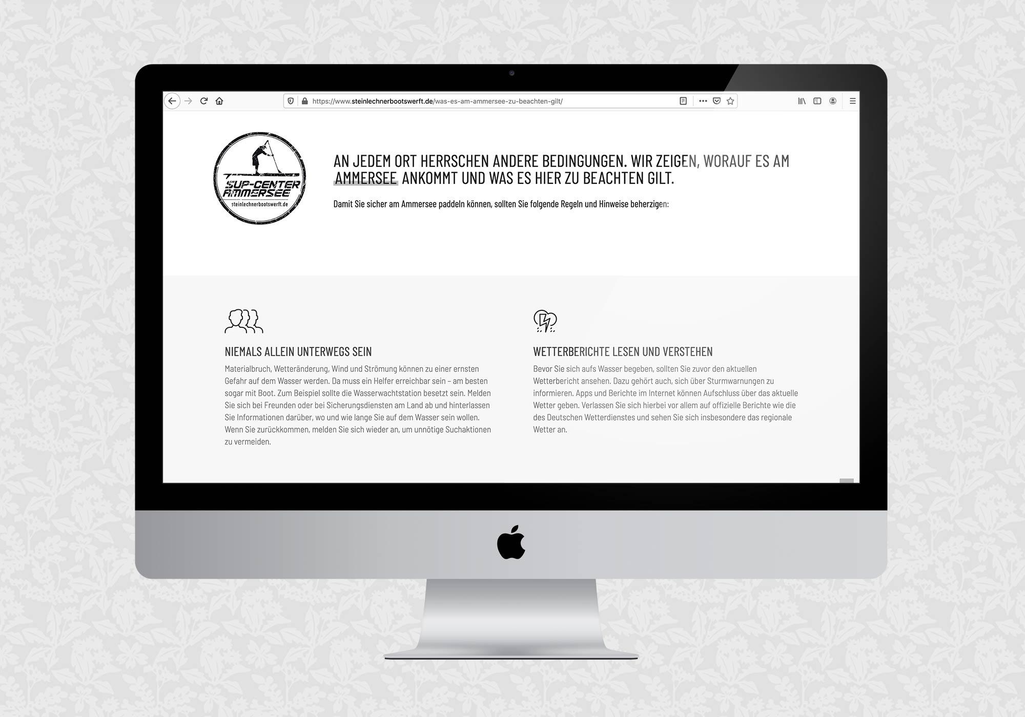 Website für die Steinlechner Bootswerft | © fein fein