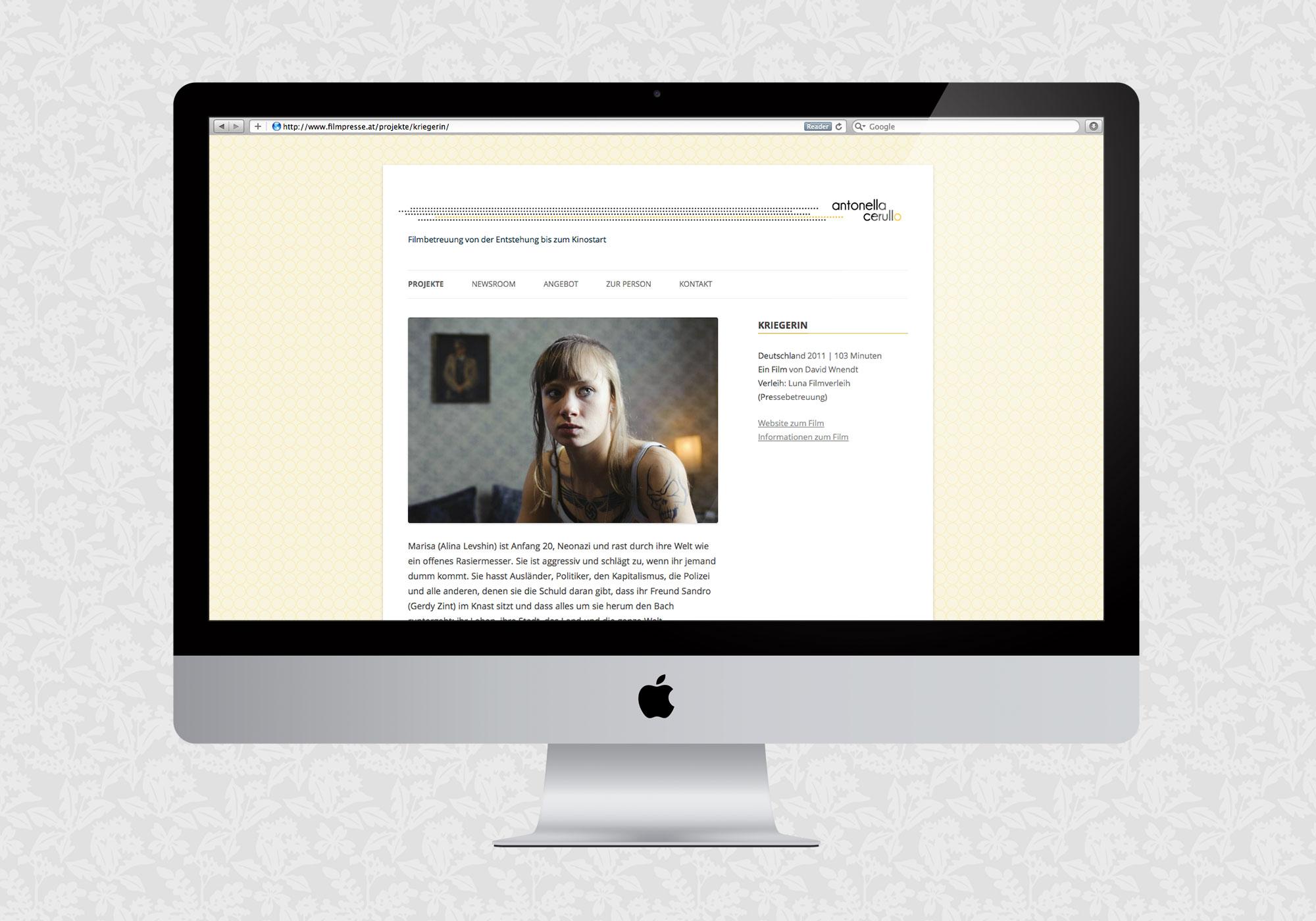 Website für AC Filmpresse