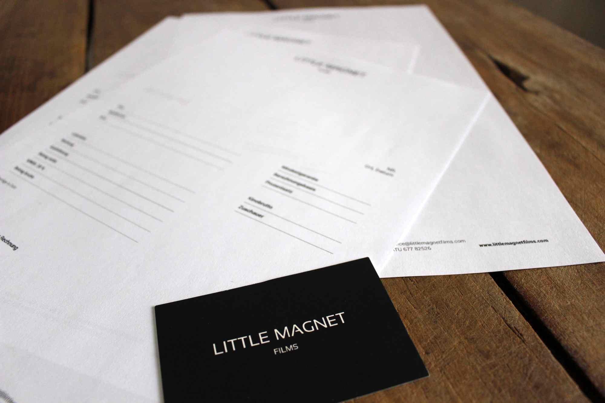 Geschäftsausstattung für Little Magnet Films