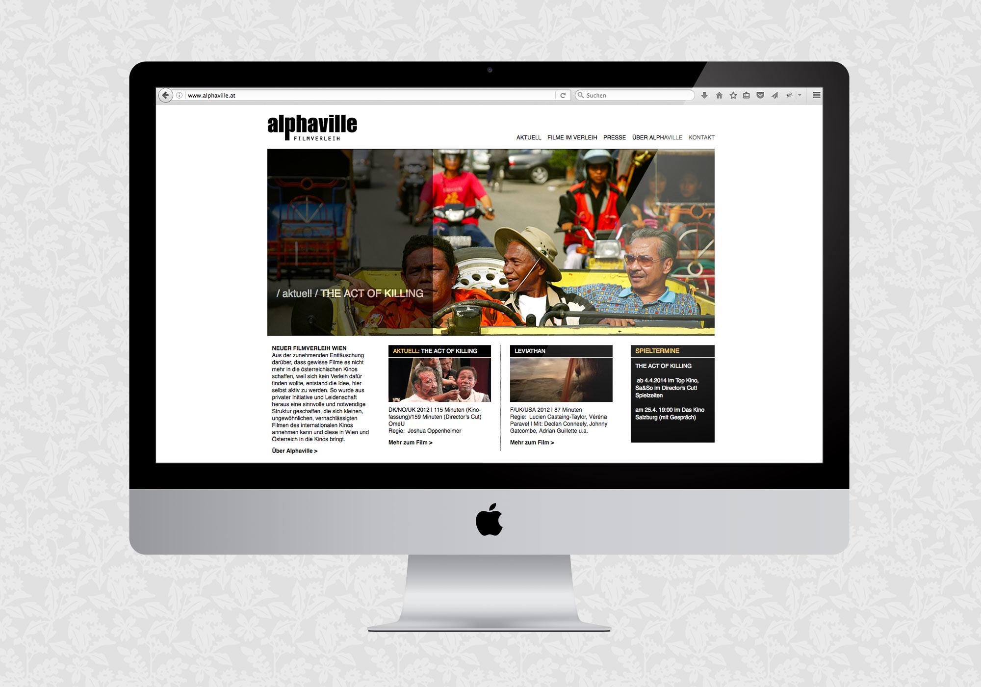Website für alphaville Filmverleih