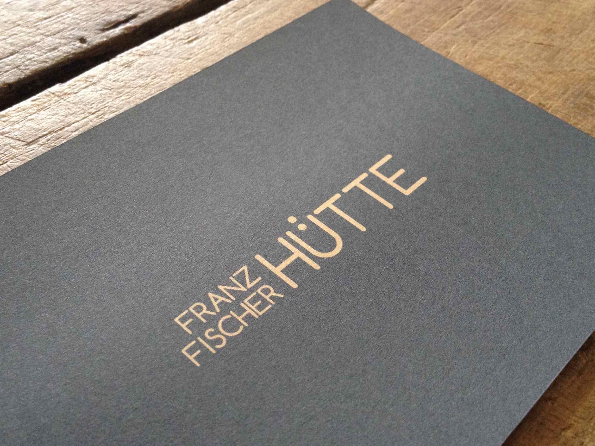 Logo für die Franz-Fischer-Hütte (Alternativentwurf)