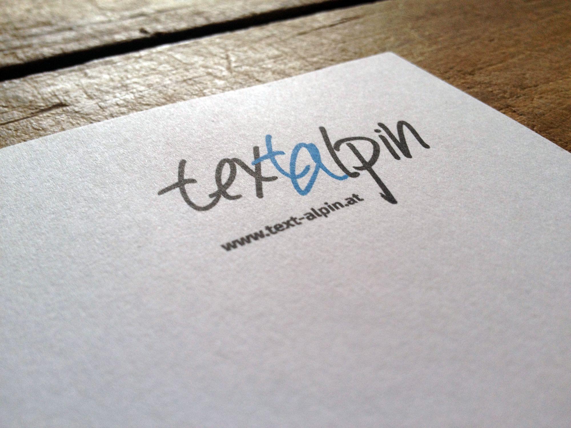 Geschäftsausstattung für text-alpin