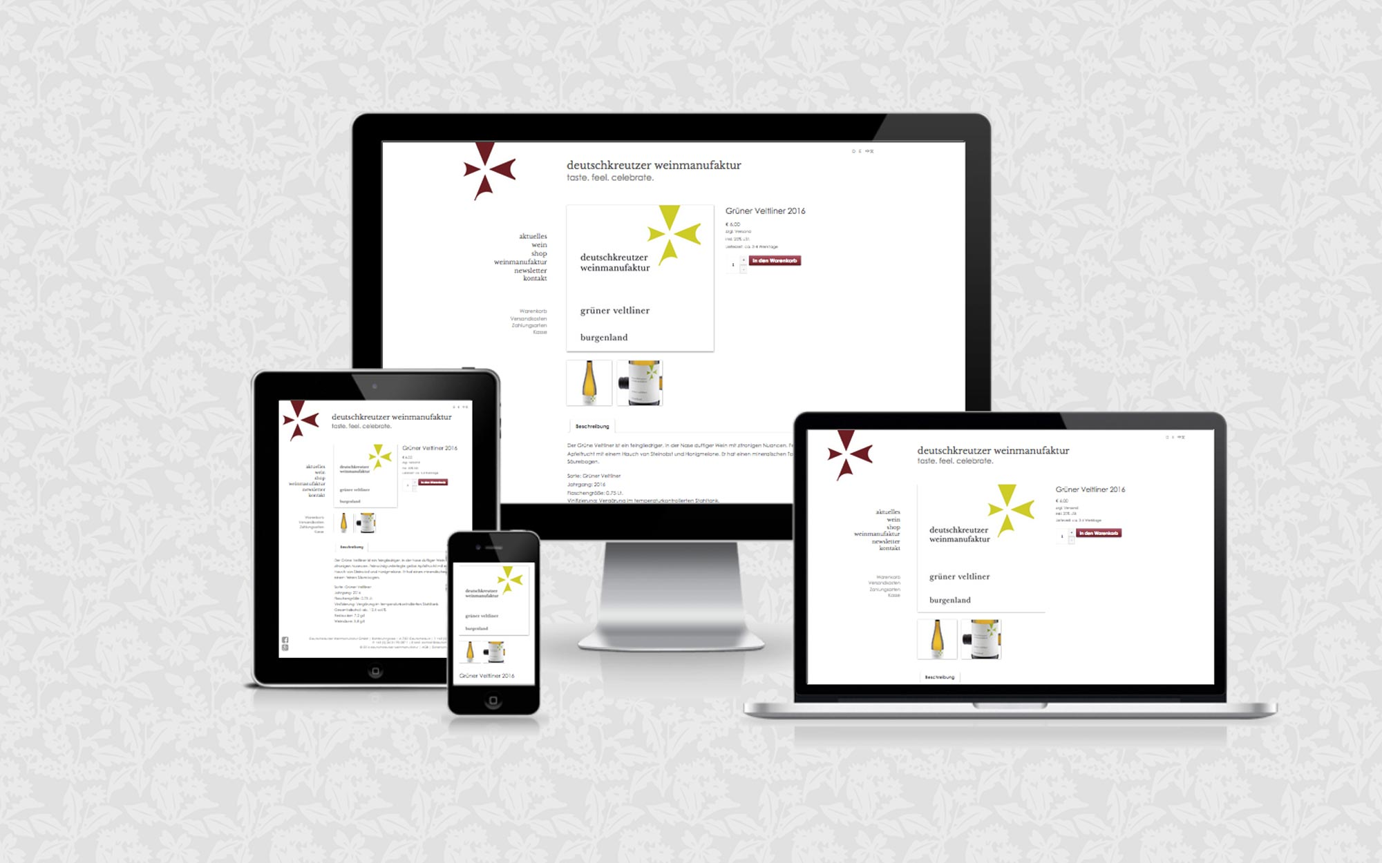 Website für die Deutschkreutzer Weinmanufaktur