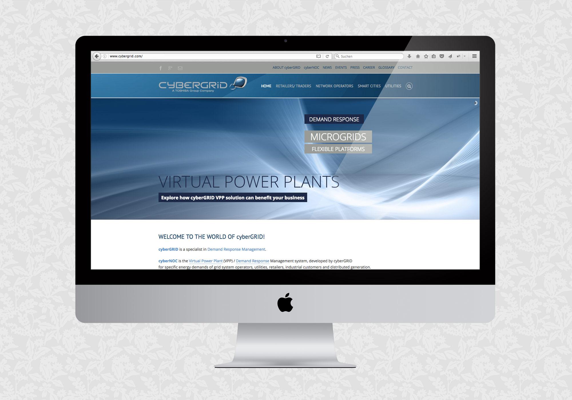 Website für cyberGRID