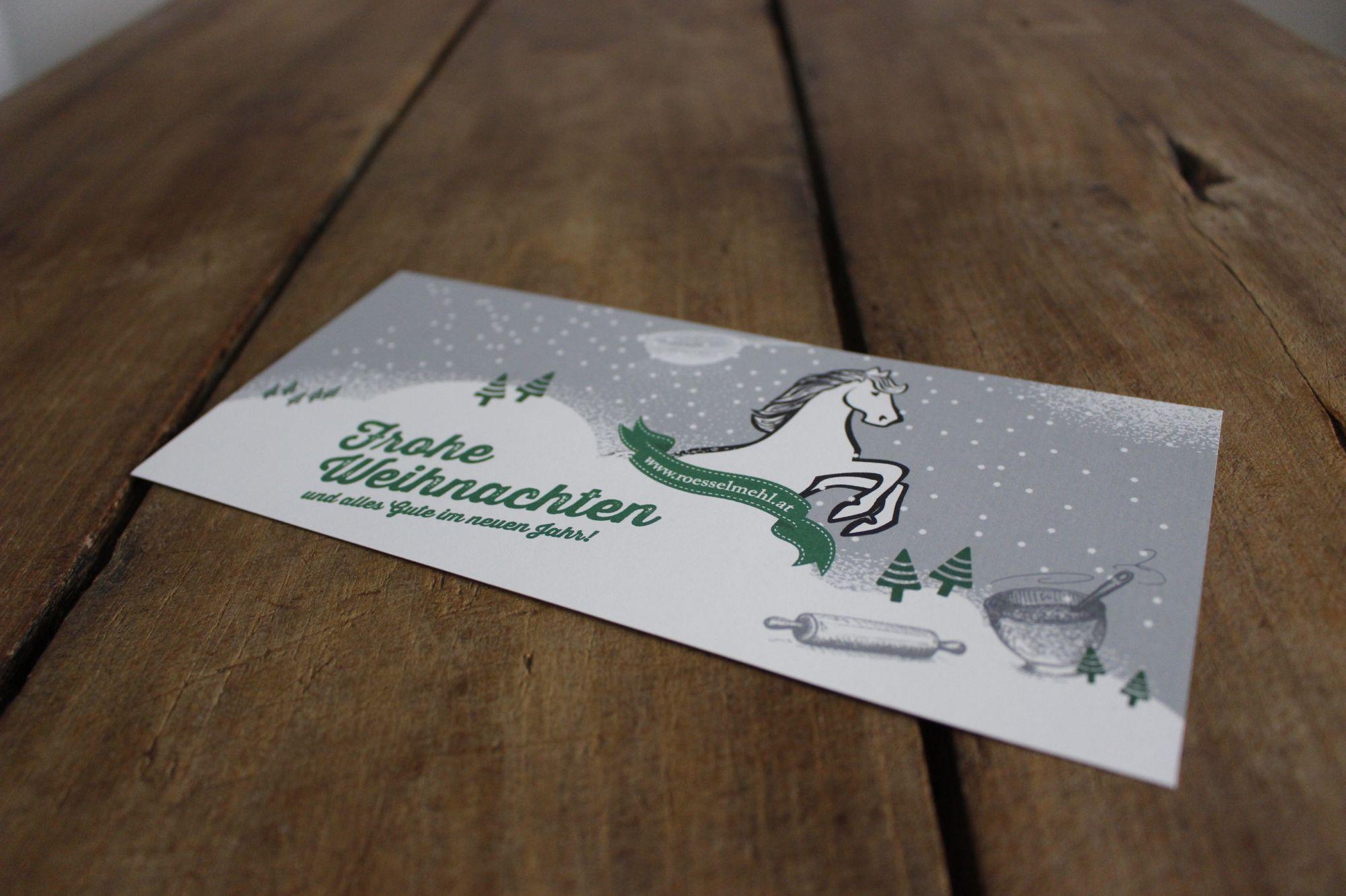Weihnachtskarte für Rösselmehl