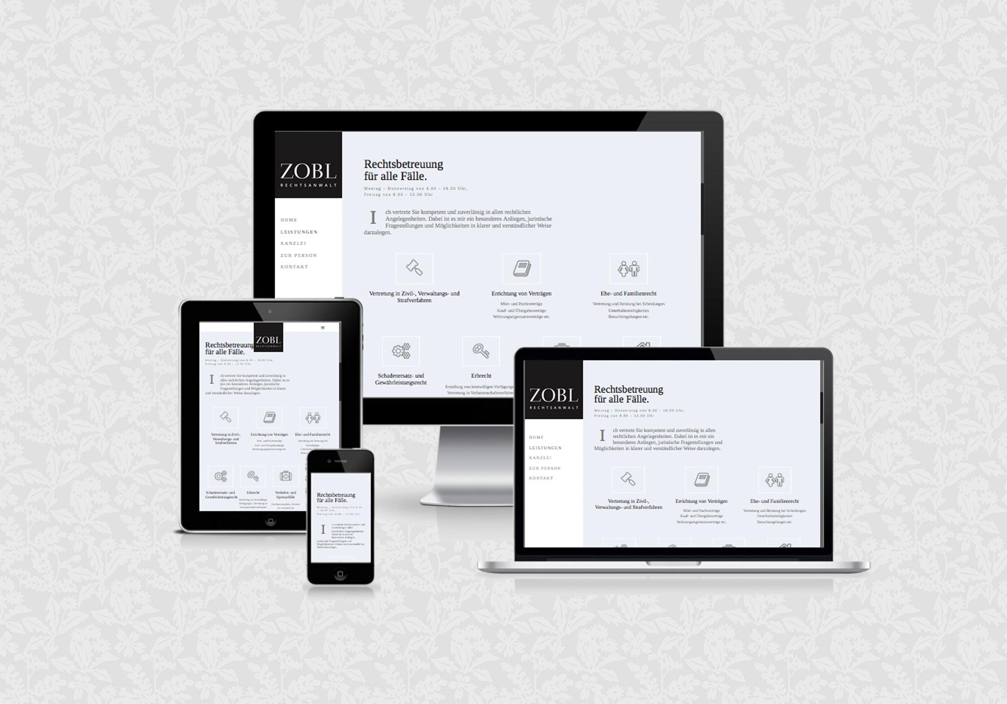 Website für Rechtsanwalt Günter Zobl