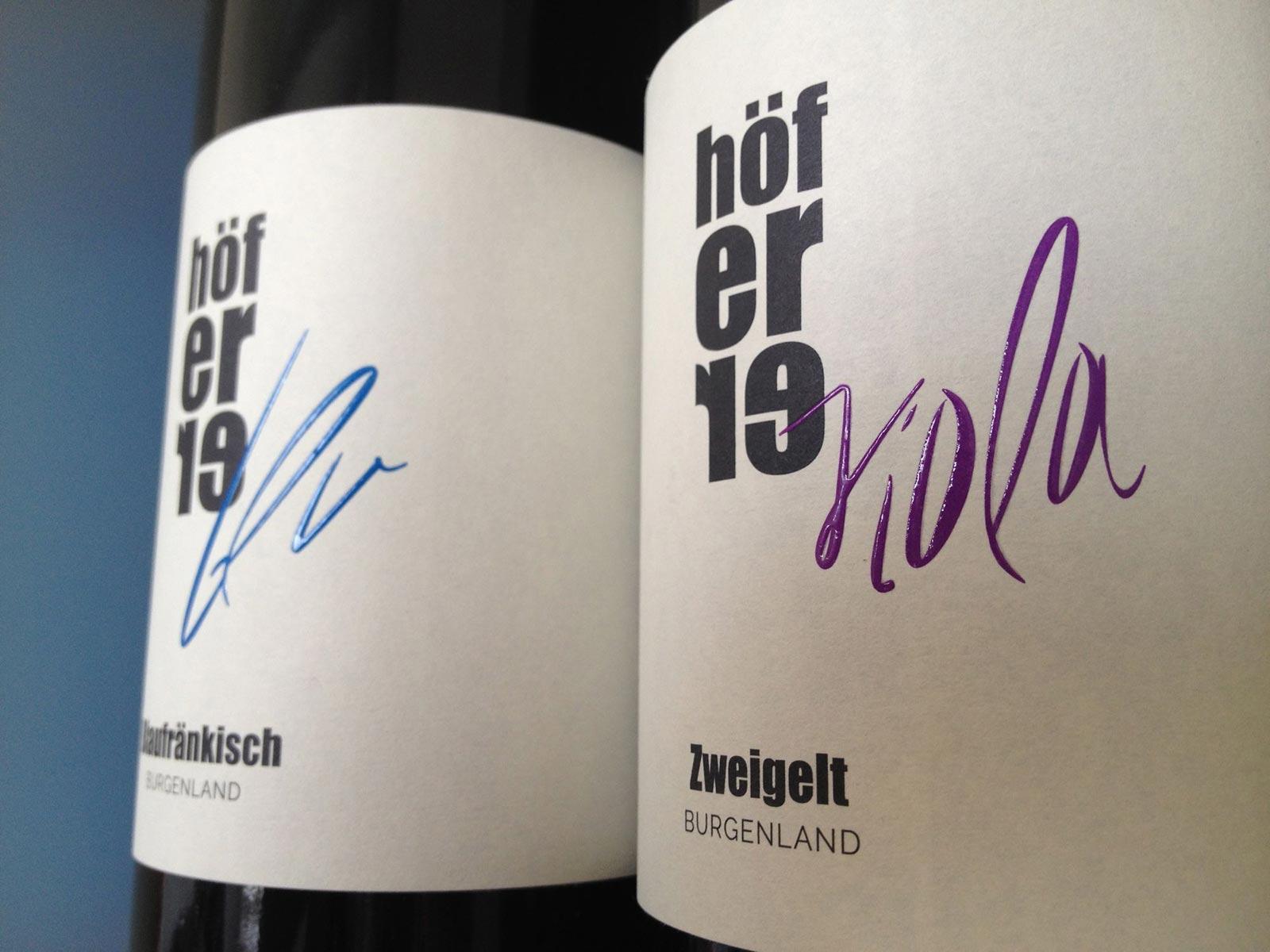 Weinlinie »blu« und »viola« für die Deutschkreutzer Weinmanufaktur