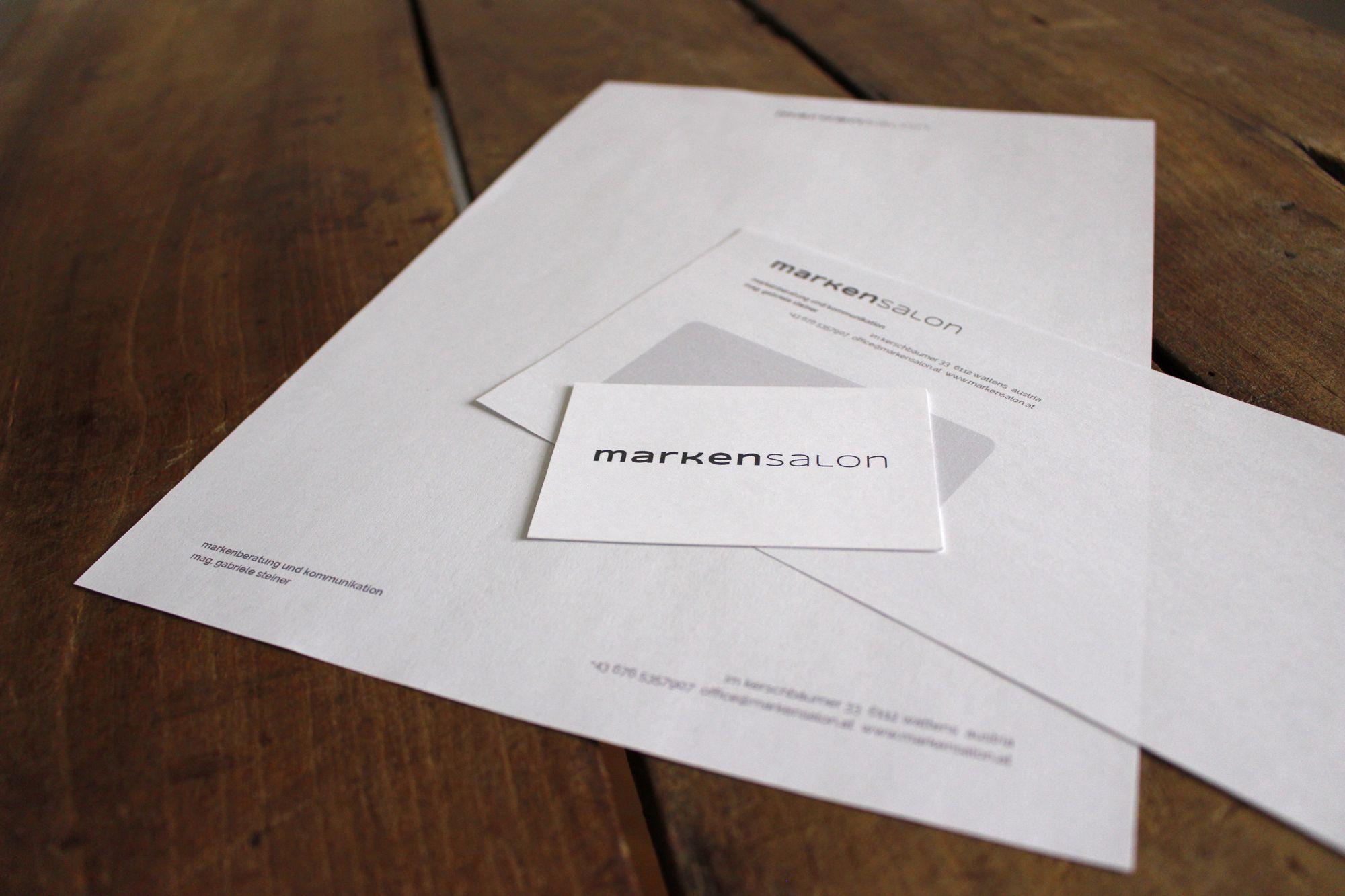 Geschäftsausstattung für markensalon