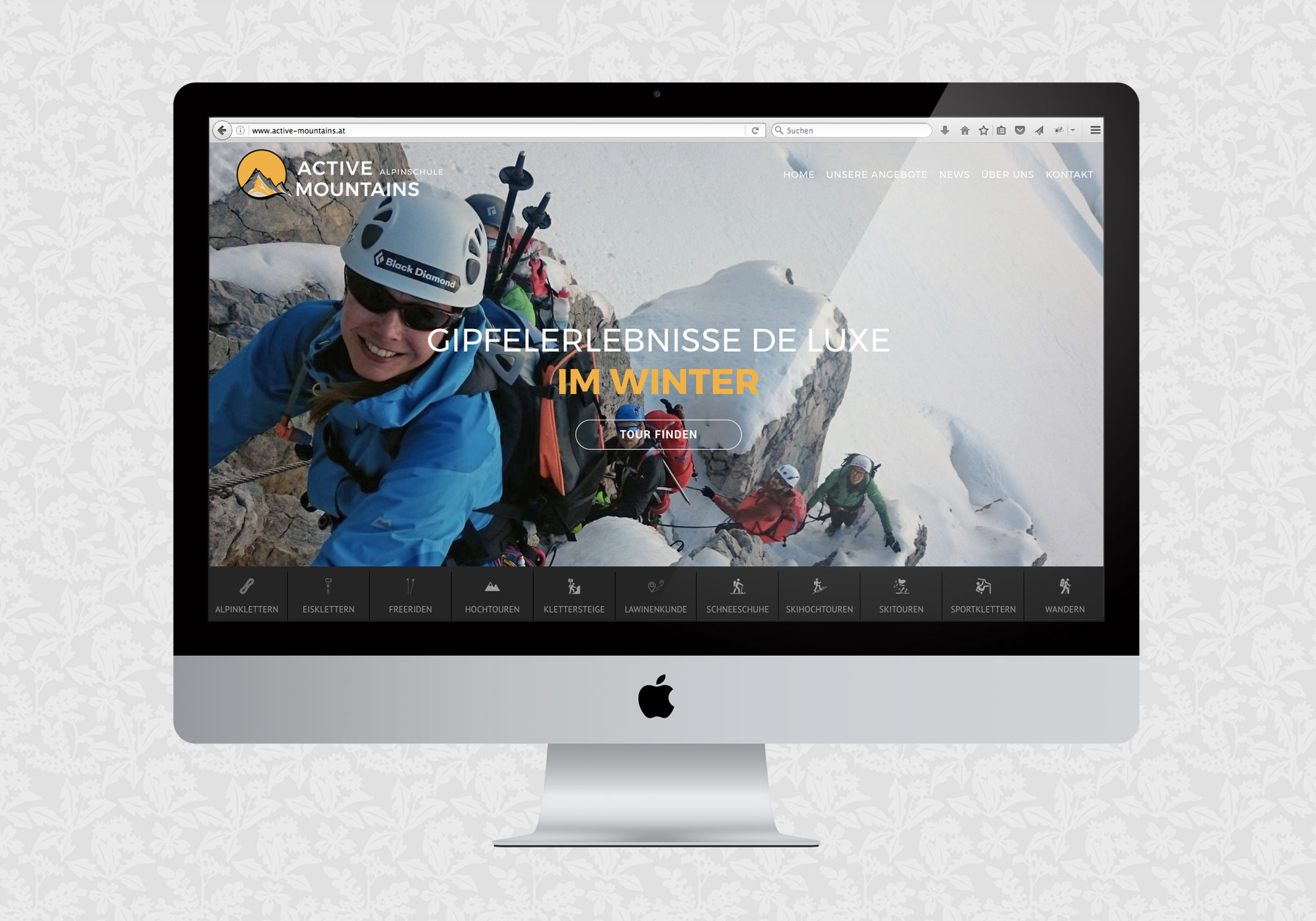 Website für Active Mountains Alpinschule