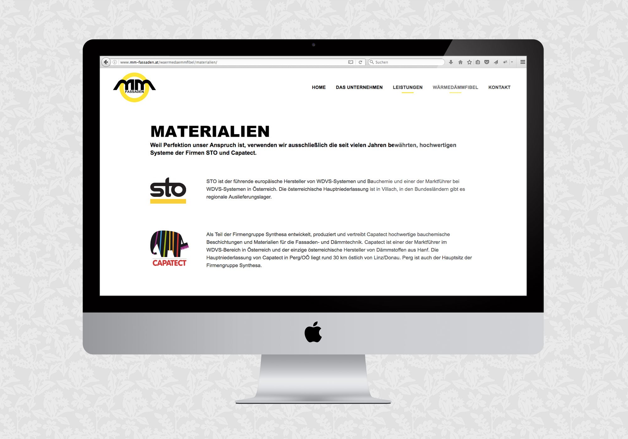 Website für MM Fassaden & Isolierungen