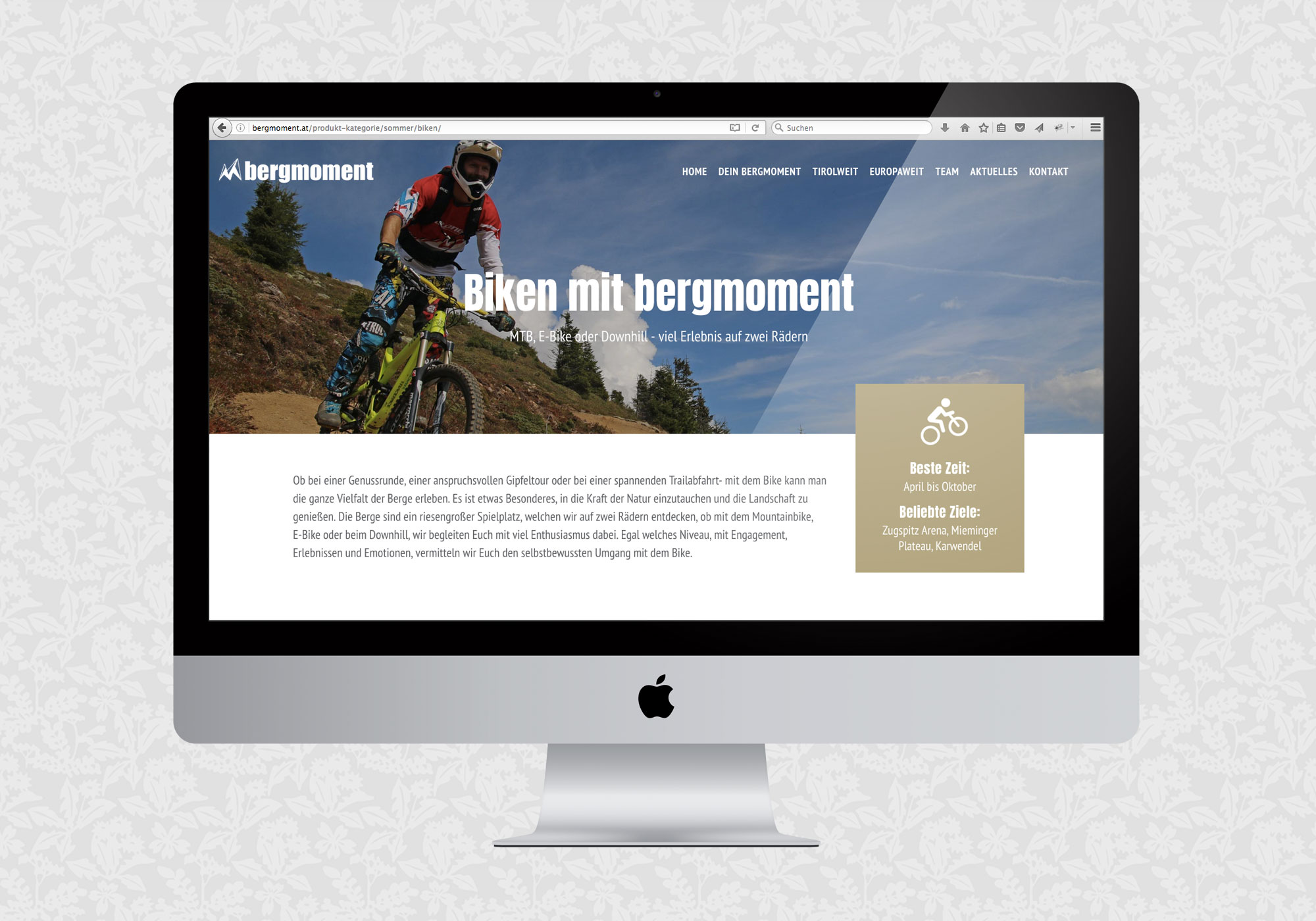 Website für bergmoment