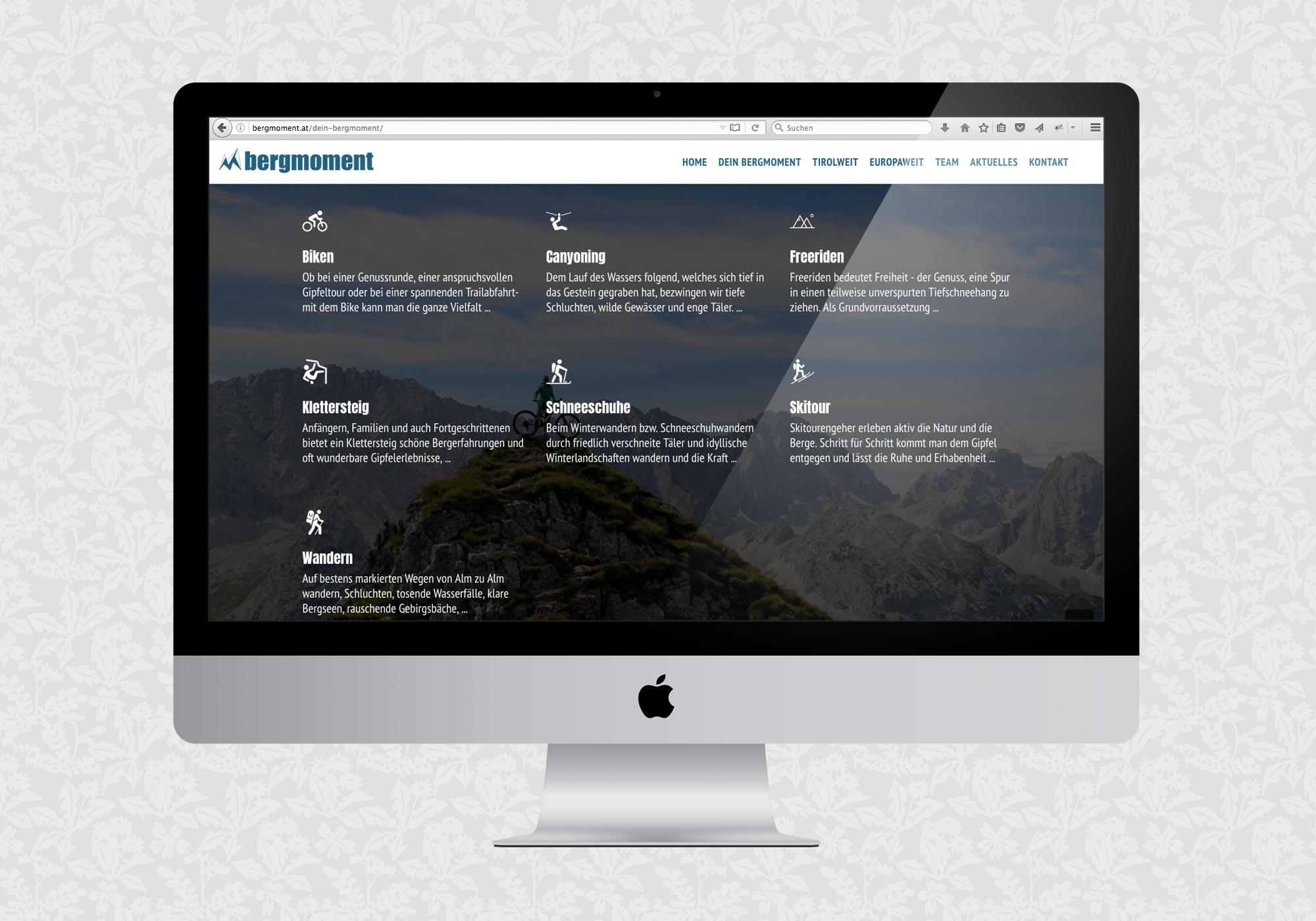 Website für bergmoment
