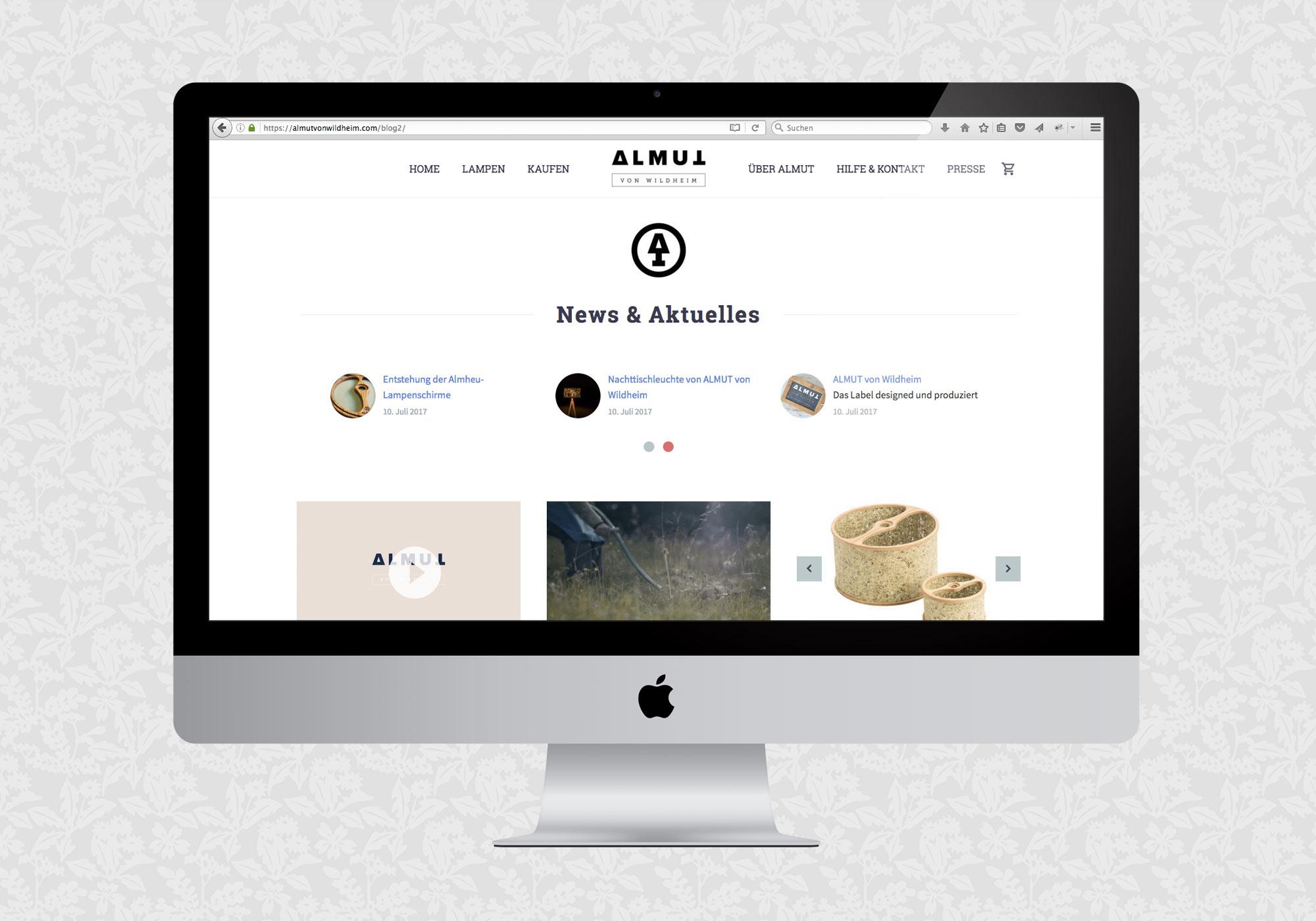 Blogdesign für Almut von Wildheim