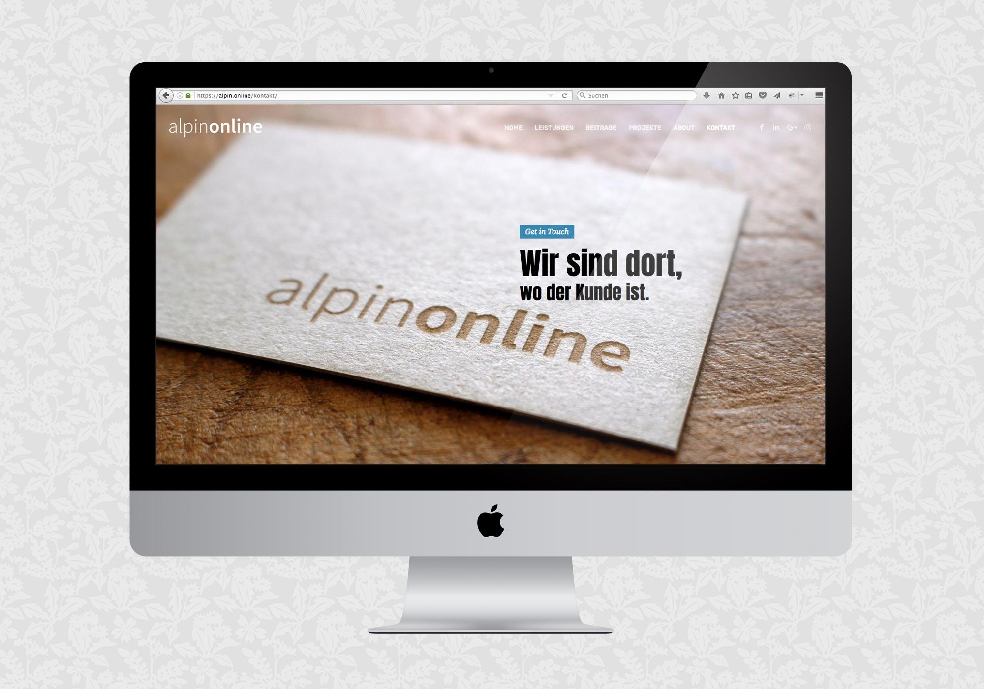 Website für alpinonline