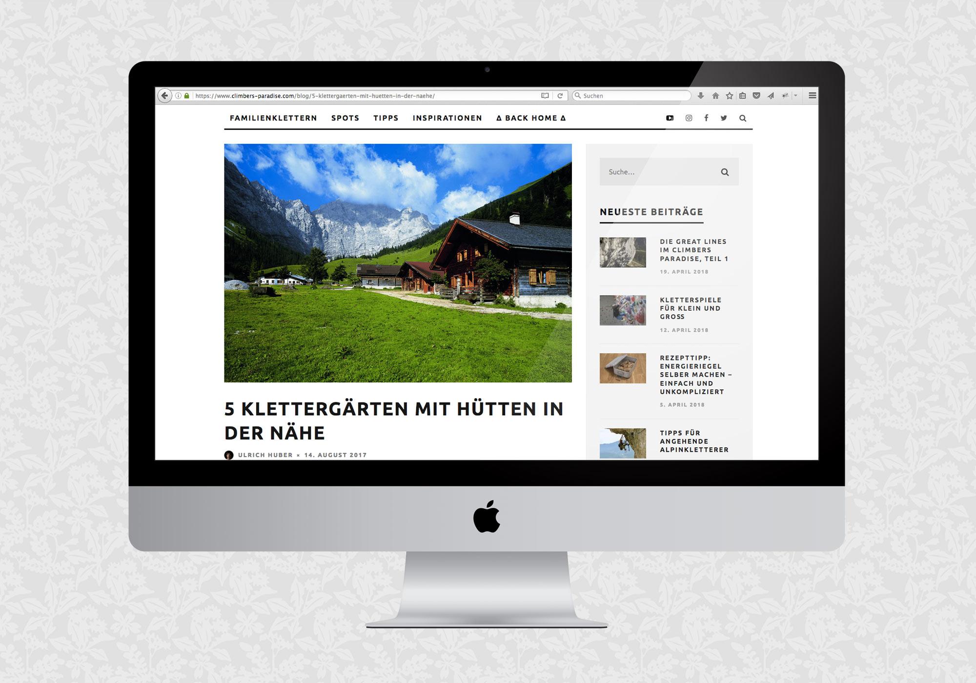 Blog für Climbers Paradise