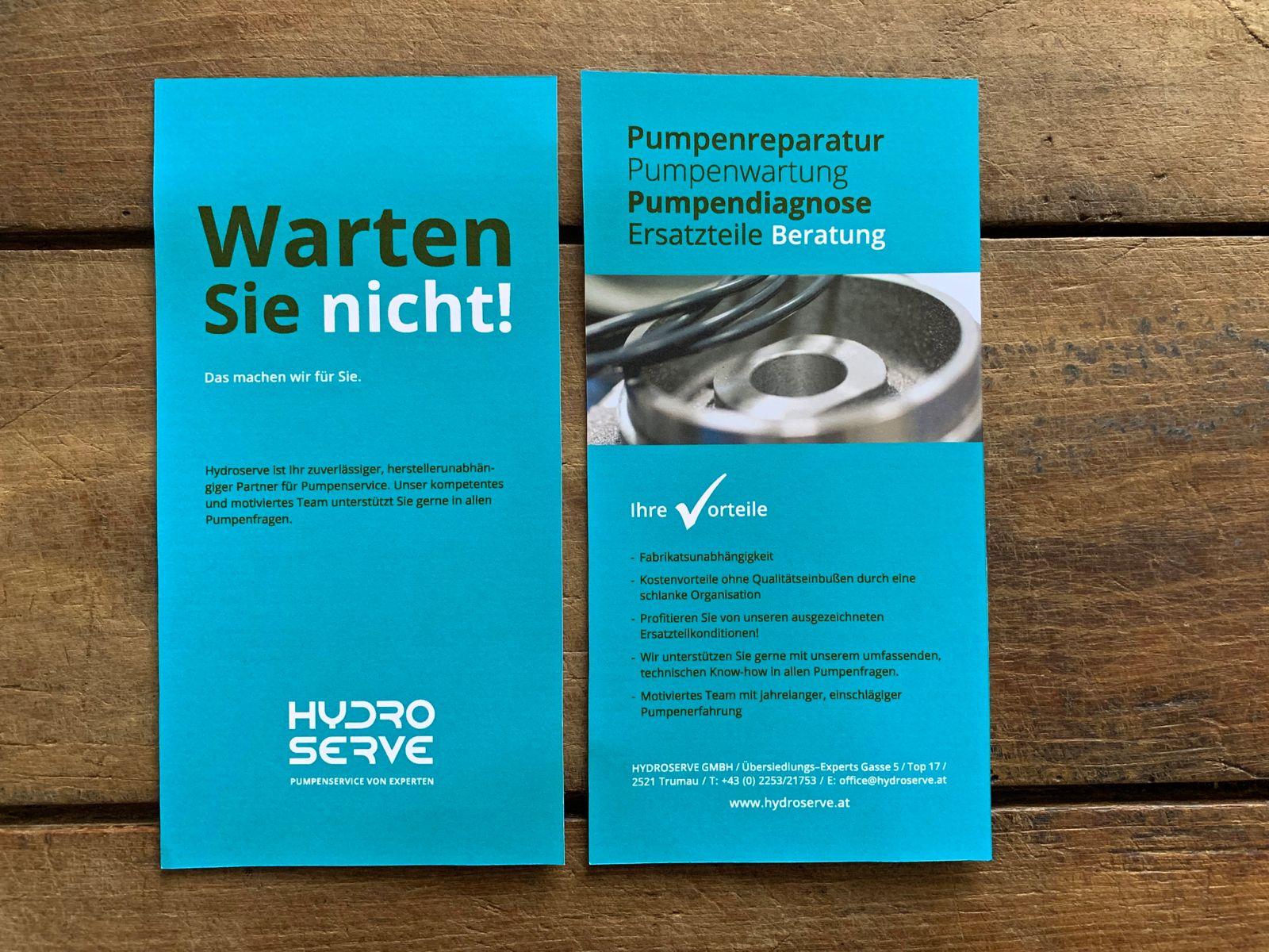 Flyer für Hydroserve | © fein fein