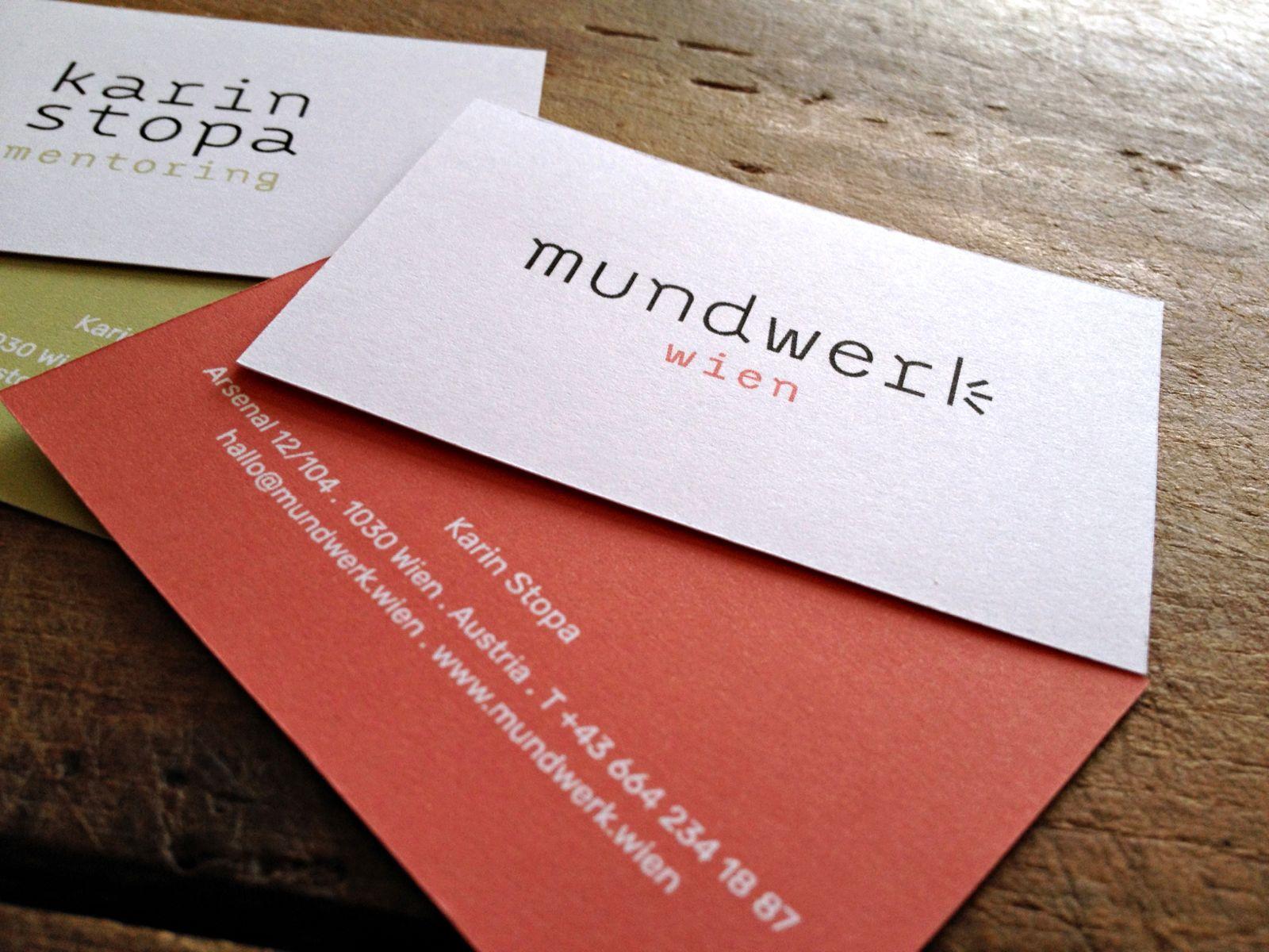 Visitenkarten Für Mundwerk Wien Karin Stopa Mentoring
