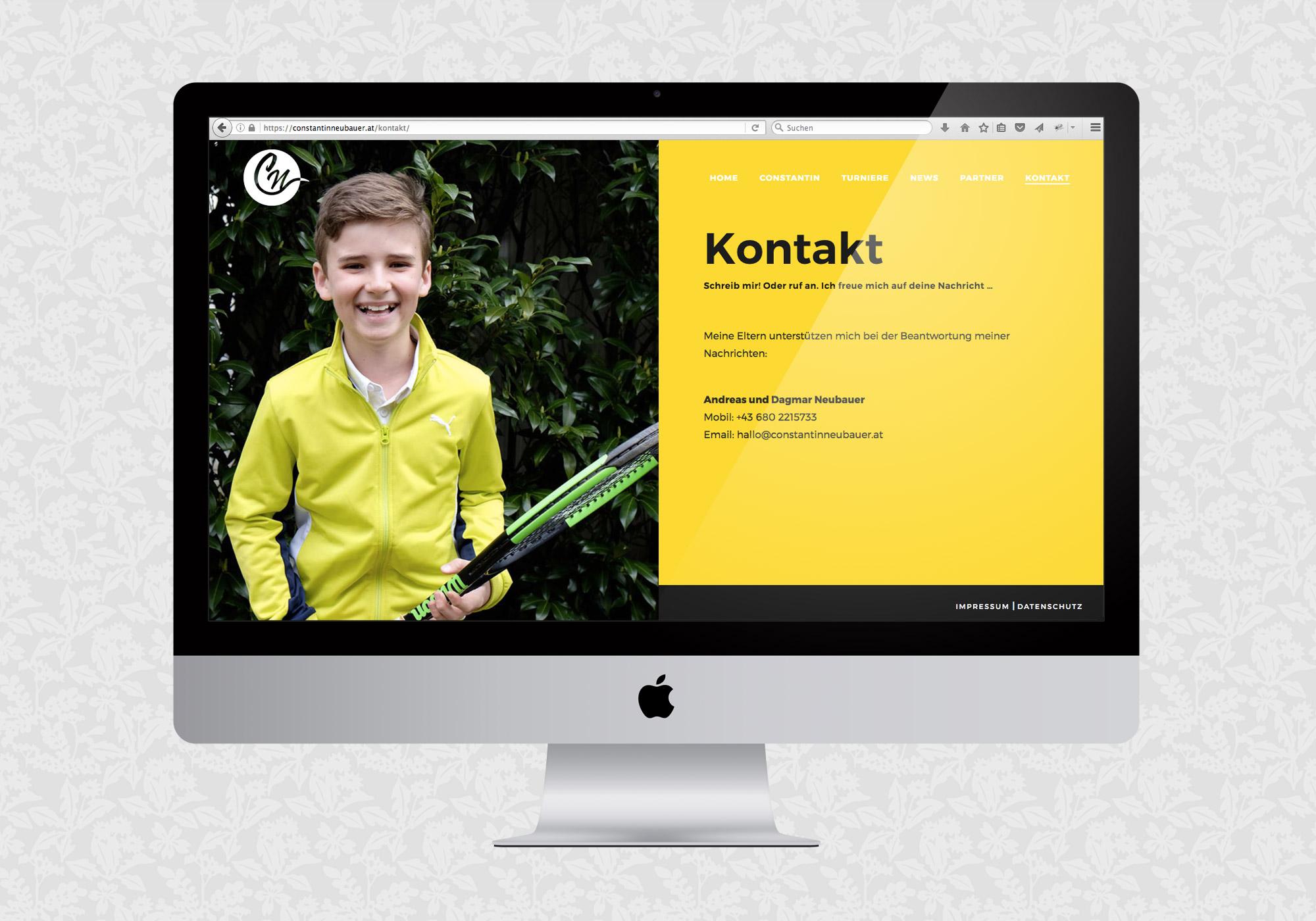 Website für Constantin Neubauer