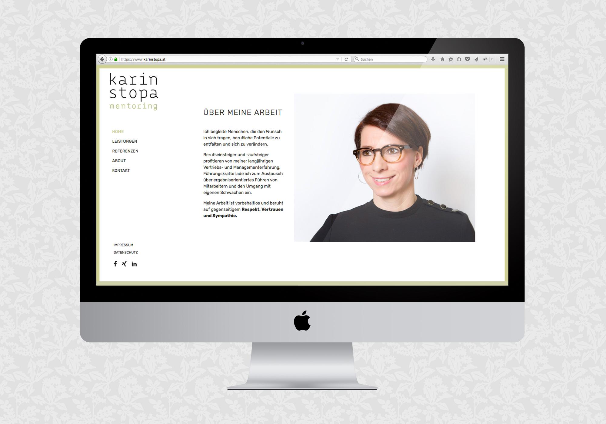 Website für Karin Stopa Mentoring