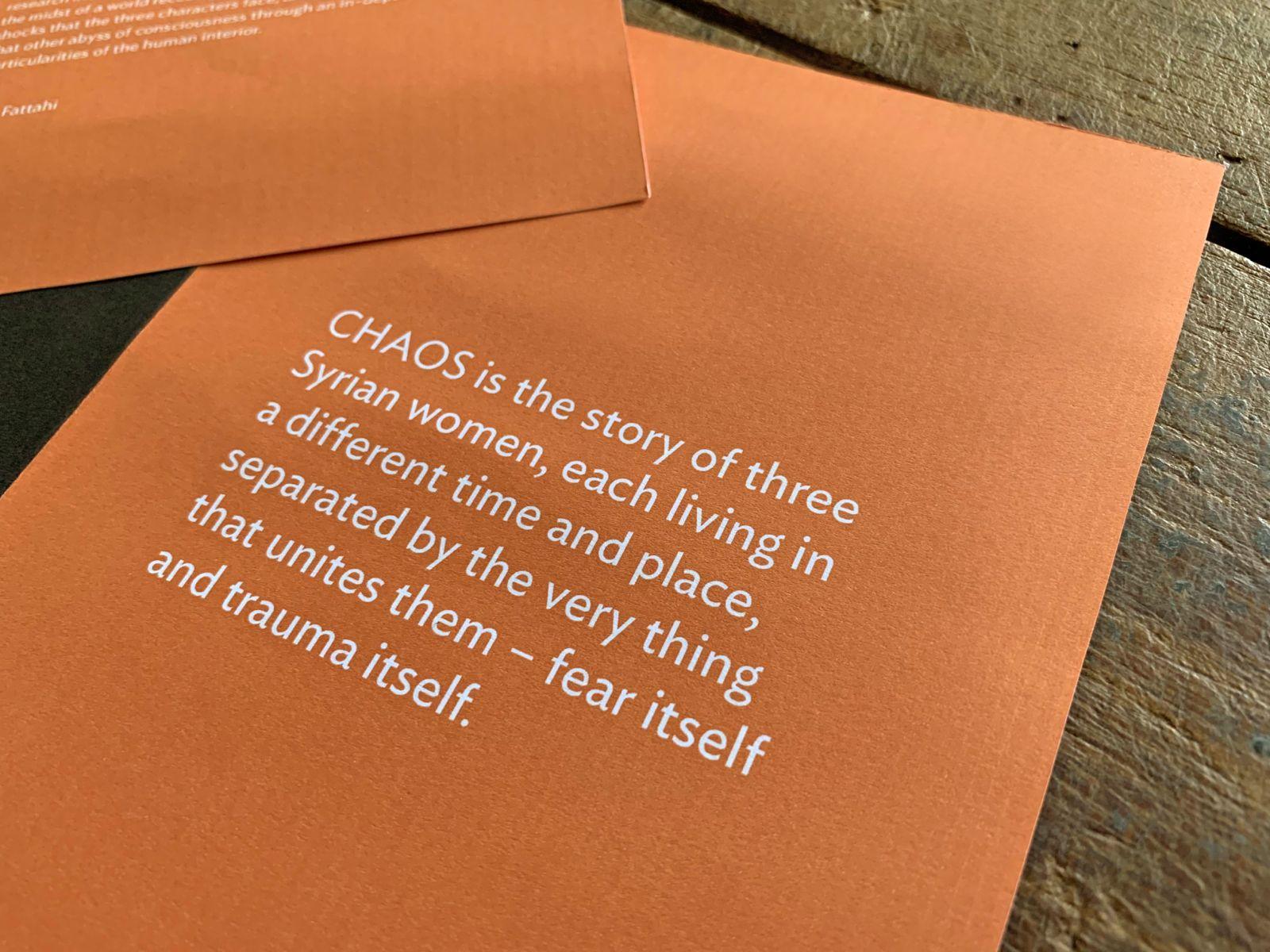 Presskit zum Film CHAOS | © fein fein