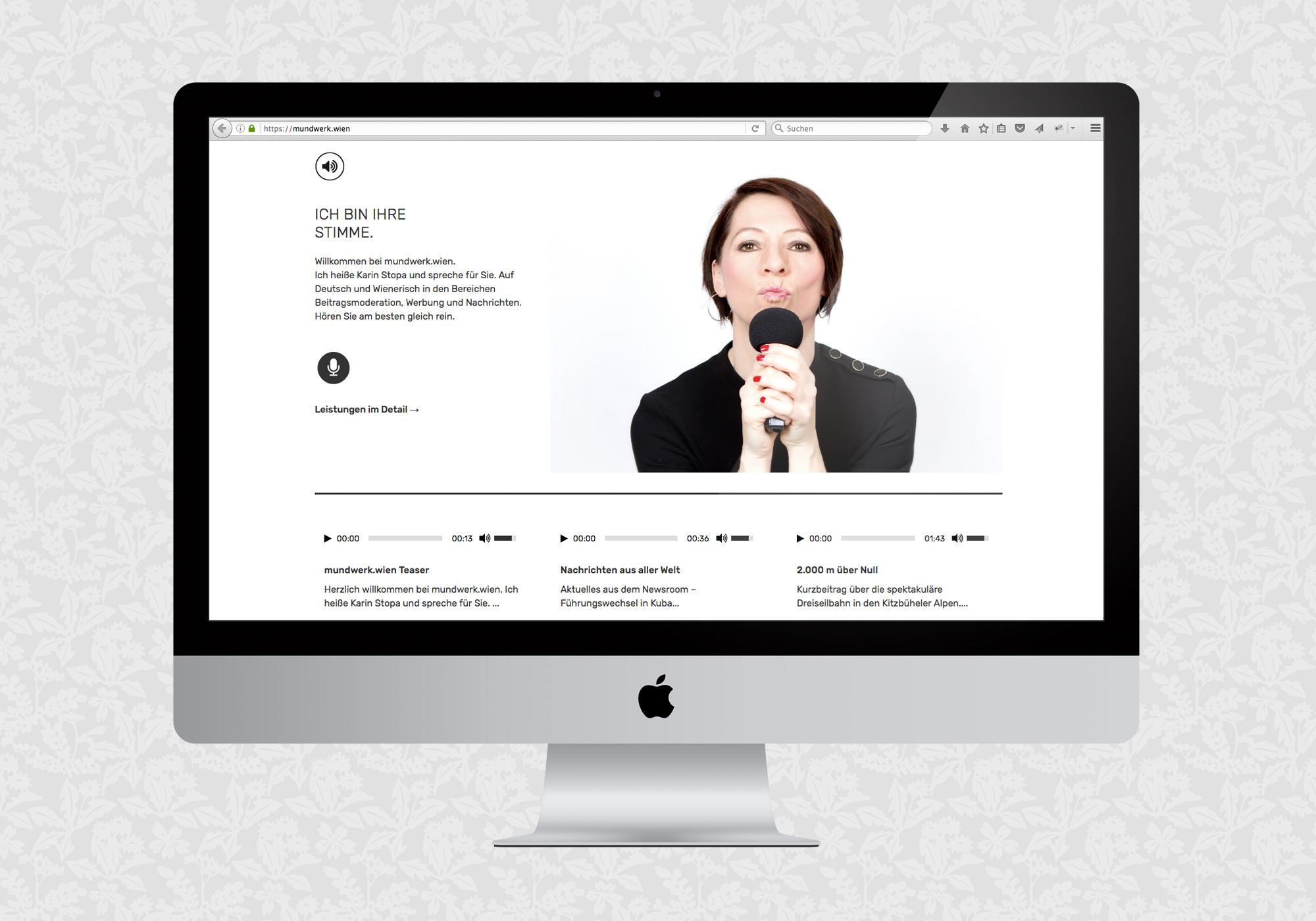 Website für mundwerk wien