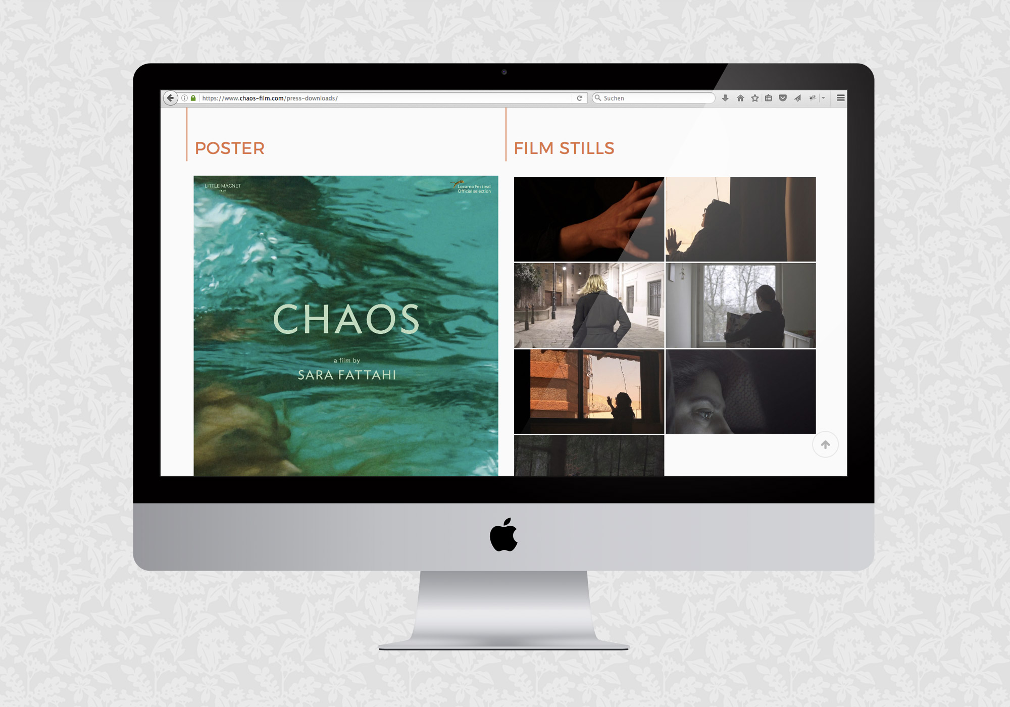 Filmwebsite Chaos / fein fein