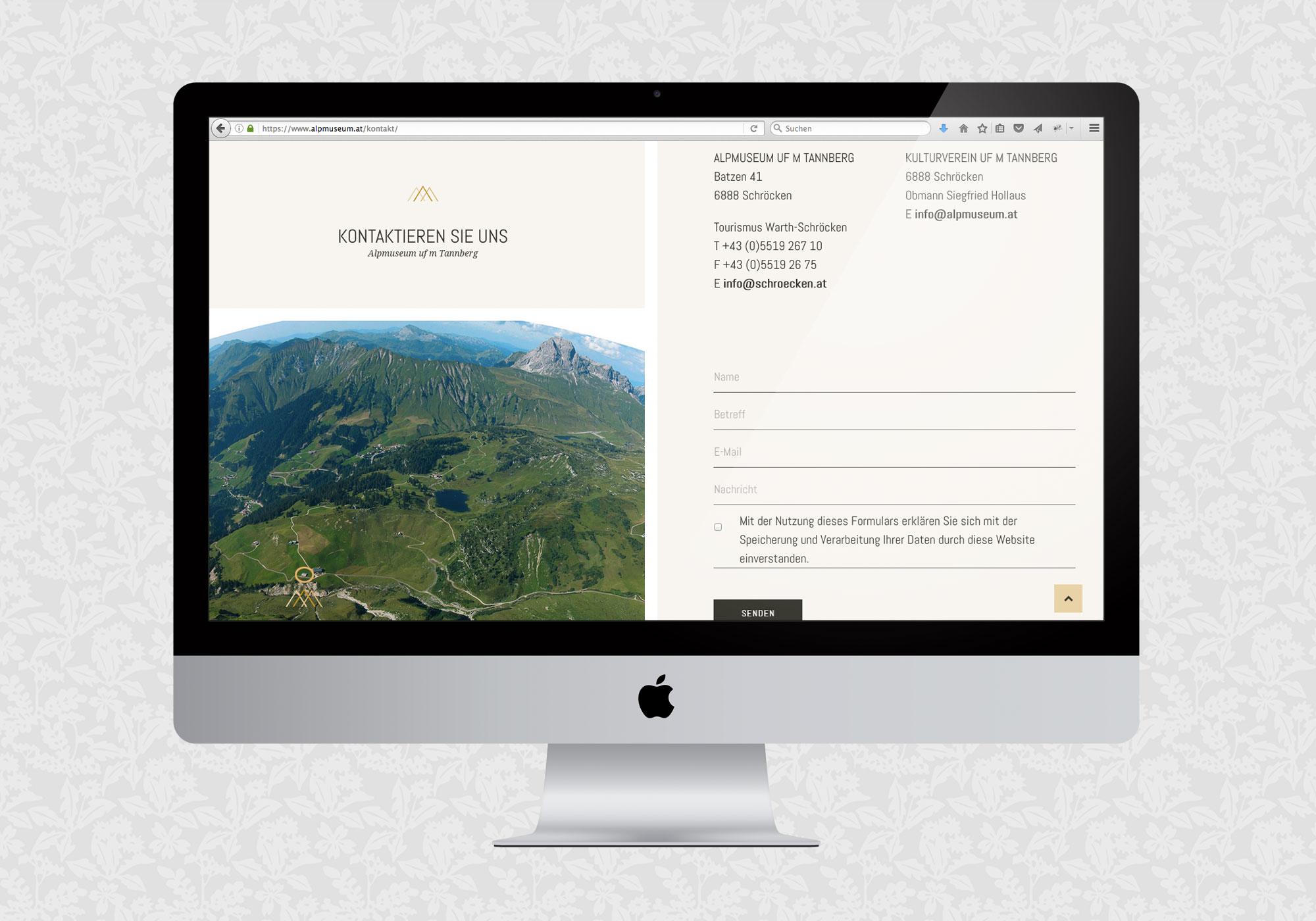 Website für das Alpmuseum uf m Tannberg, Schröcken / fein fein