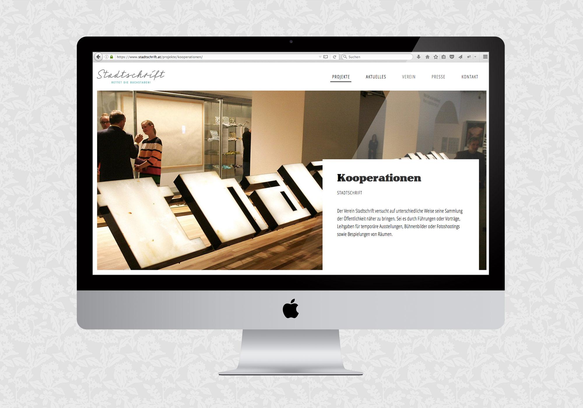 Website für Stadtschrift / fein fein
