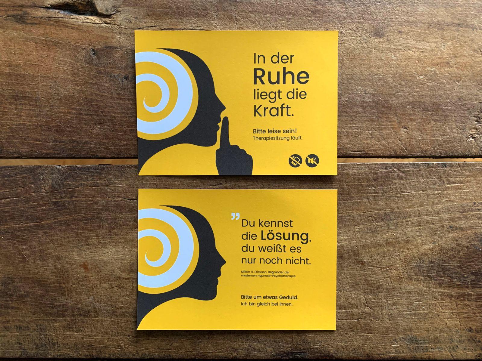 Türschild für Ruth Paul / Hypnose-Psychotherapie