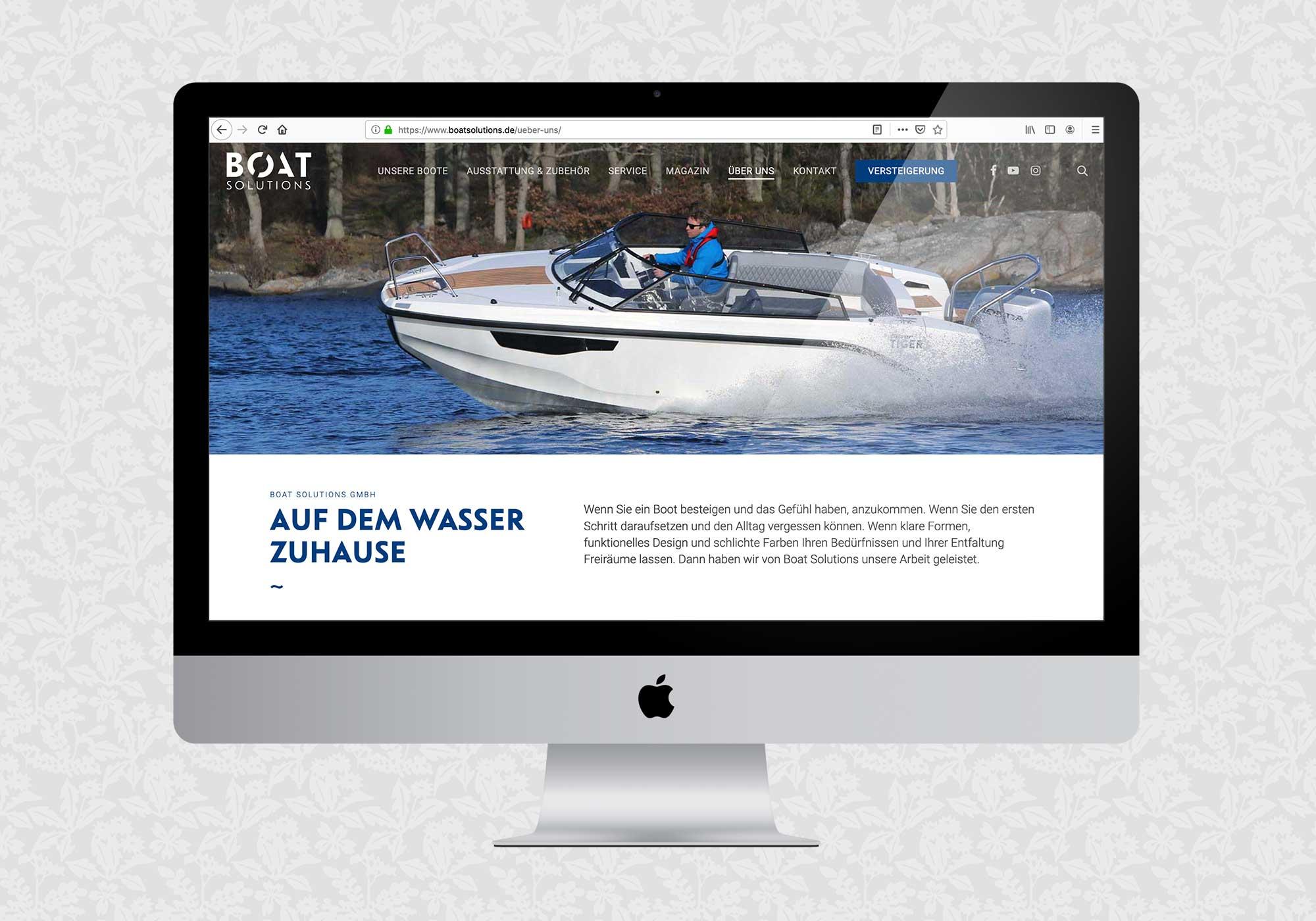 Website für Boat Solutions | © fein fein