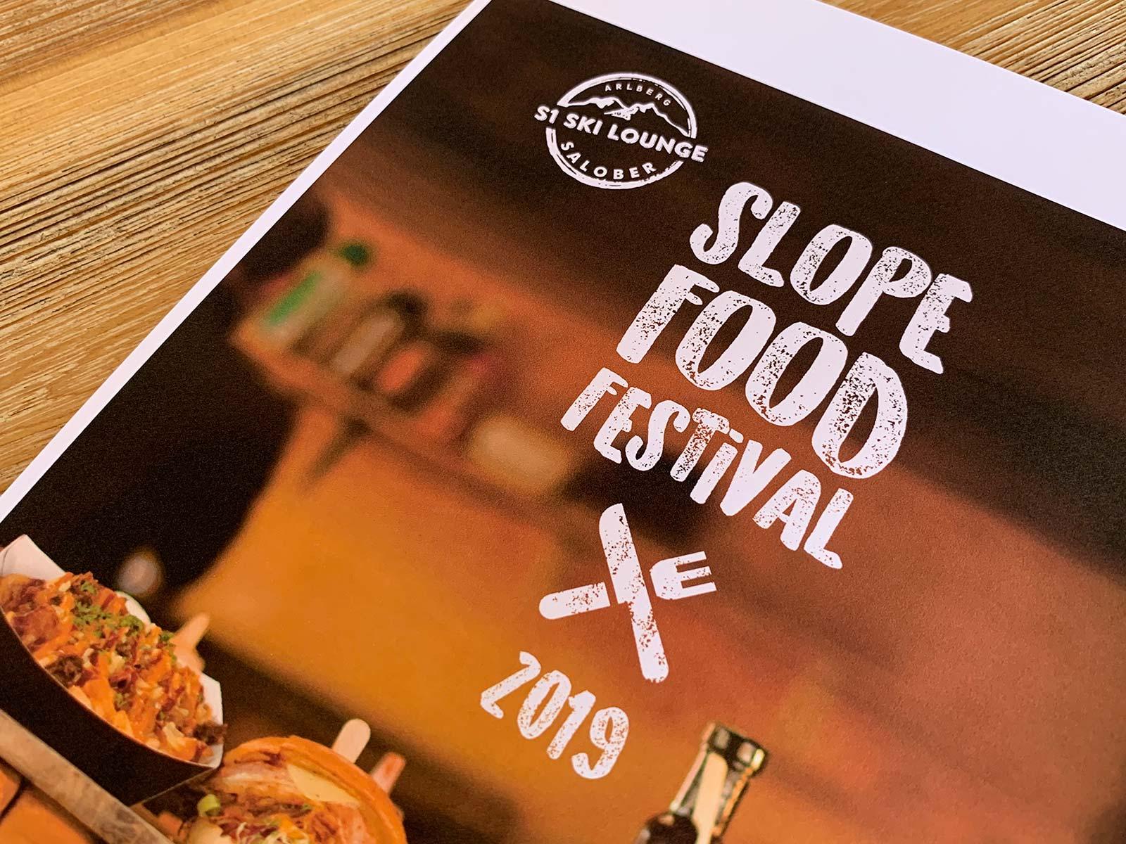 Schriftzug S1 Slope Food Festival Salober | © fein fein